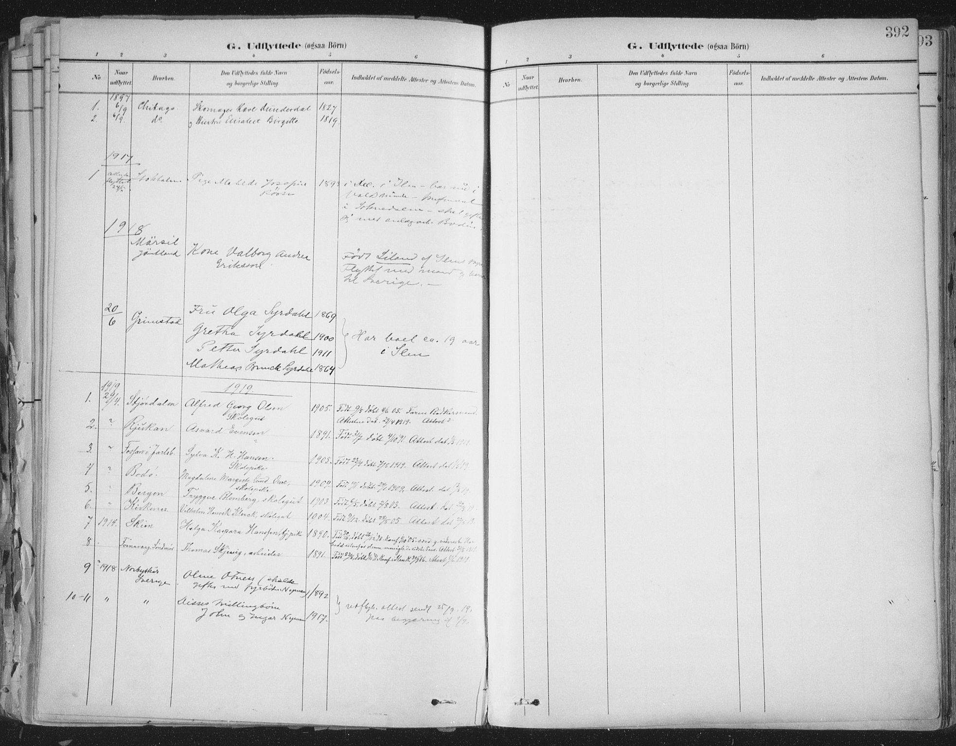 SAT, Ministerialprotokoller, klokkerbøker og fødselsregistre - Sør-Trøndelag, 603/L0167: Ministerialbok nr. 603A06, 1896-1932, s. 392