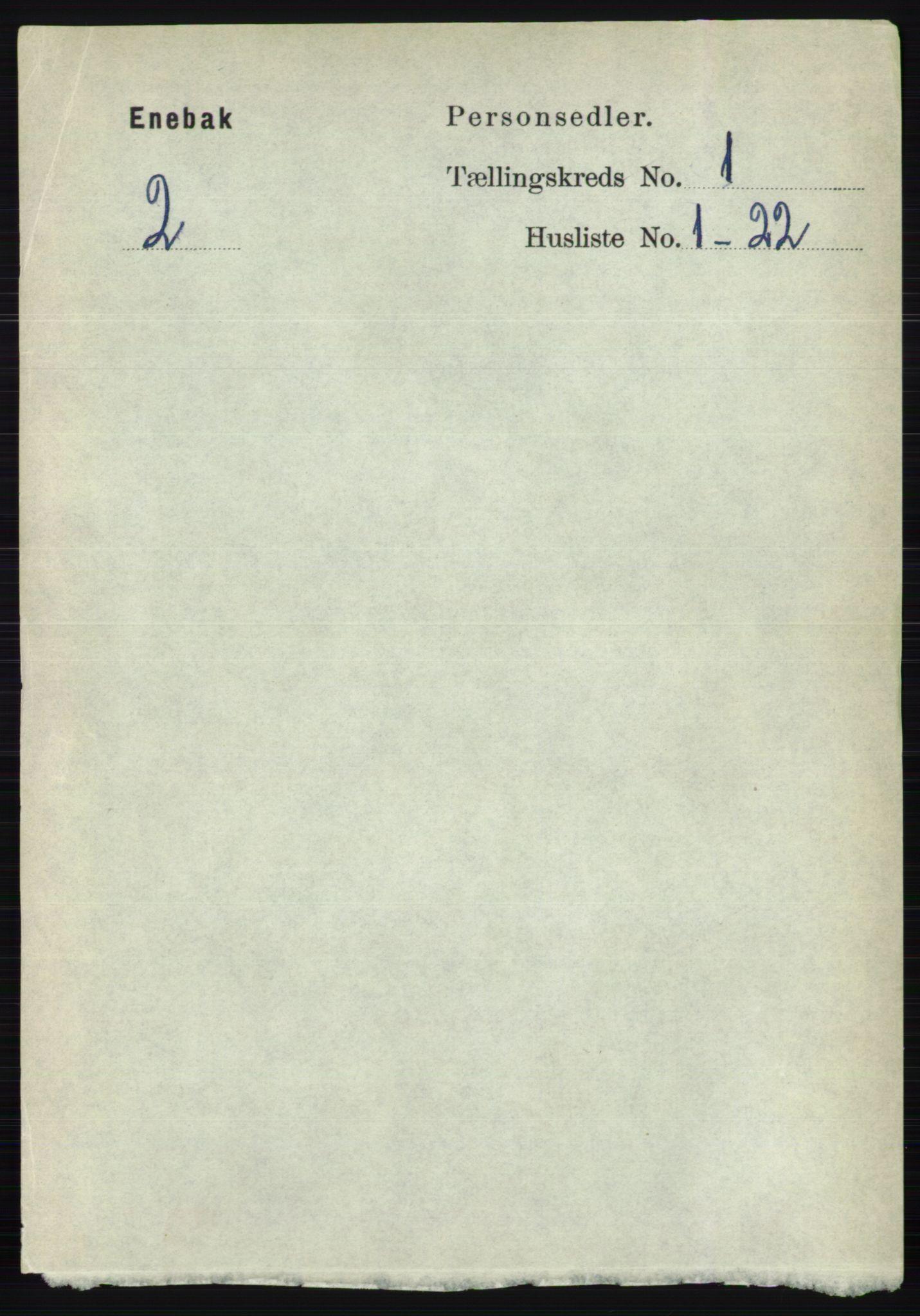 RA, Folketelling 1891 for 0229 Enebakk herred, 1891, s. 136