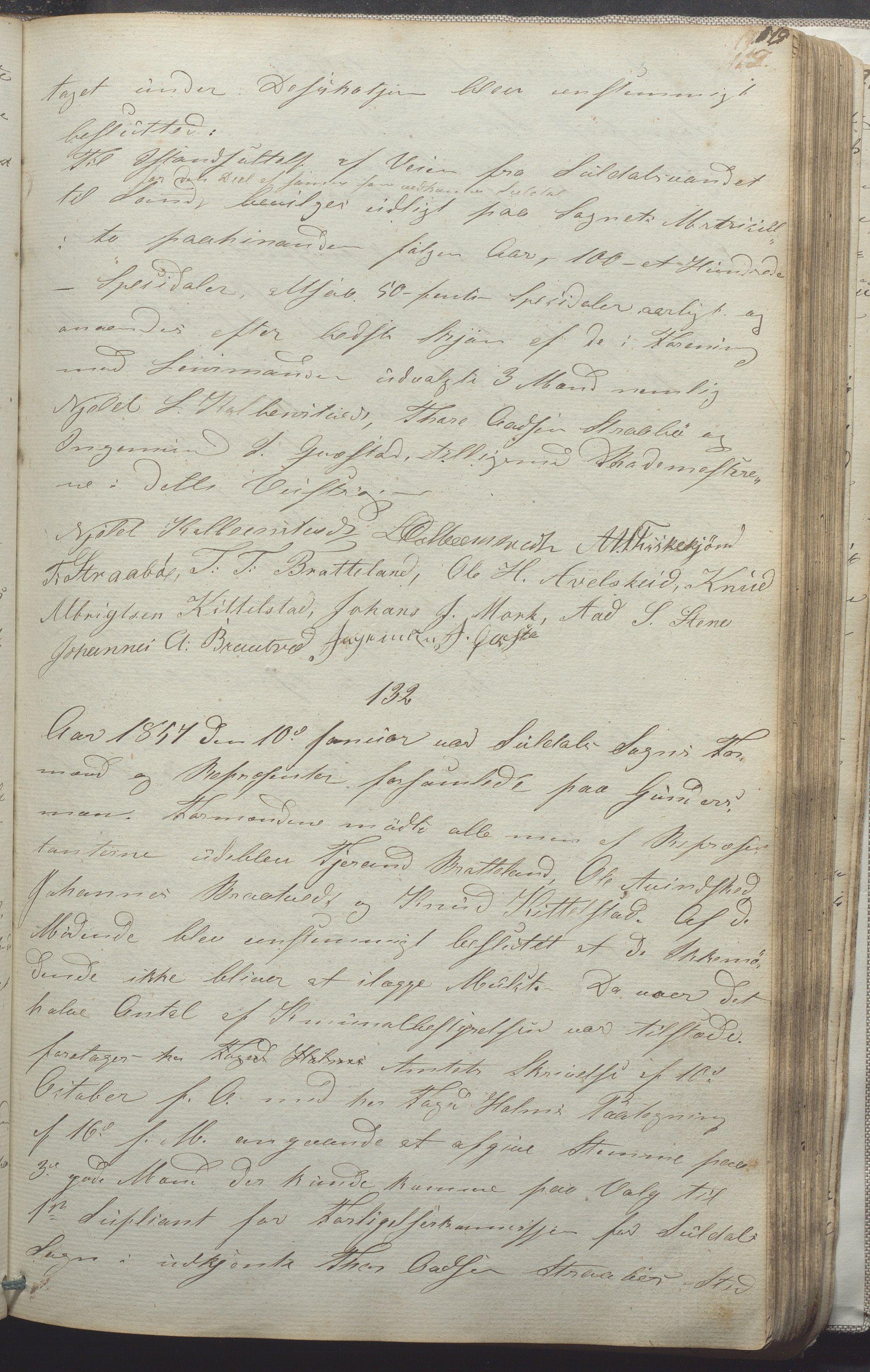 IKAR, Suldal kommune - Formannskapet/Rådmannen, A/Aa/L0001: Møtebok, 1837-1876, s. 119a