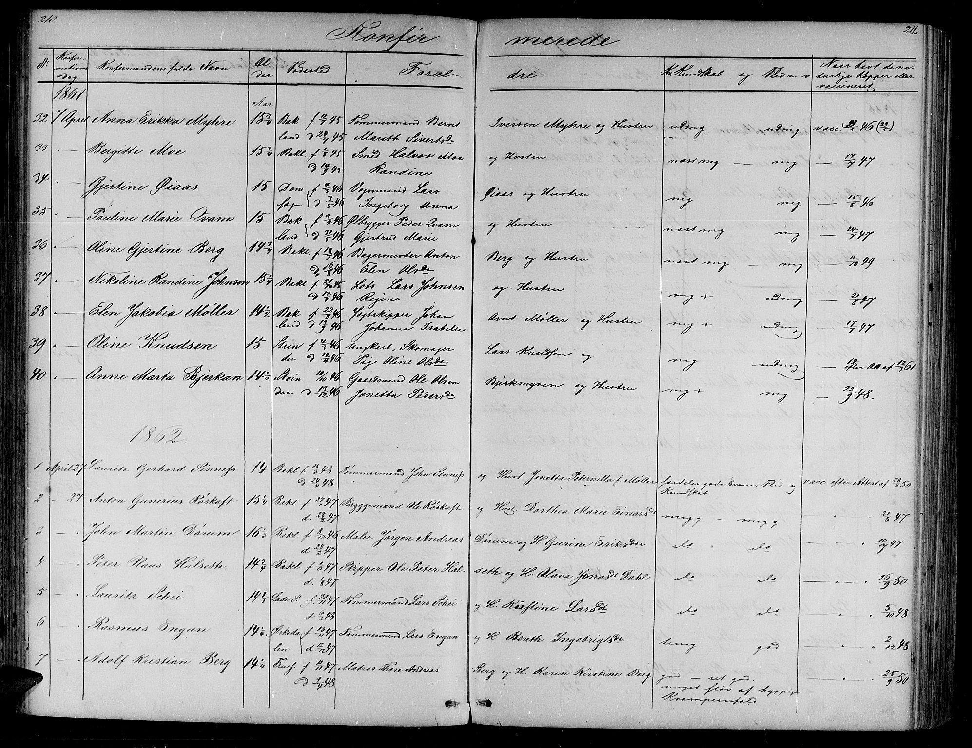 SAT, Ministerialprotokoller, klokkerbøker og fødselsregistre - Sør-Trøndelag, 604/L0219: Klokkerbok nr. 604C02, 1851-1869, s. 210-211