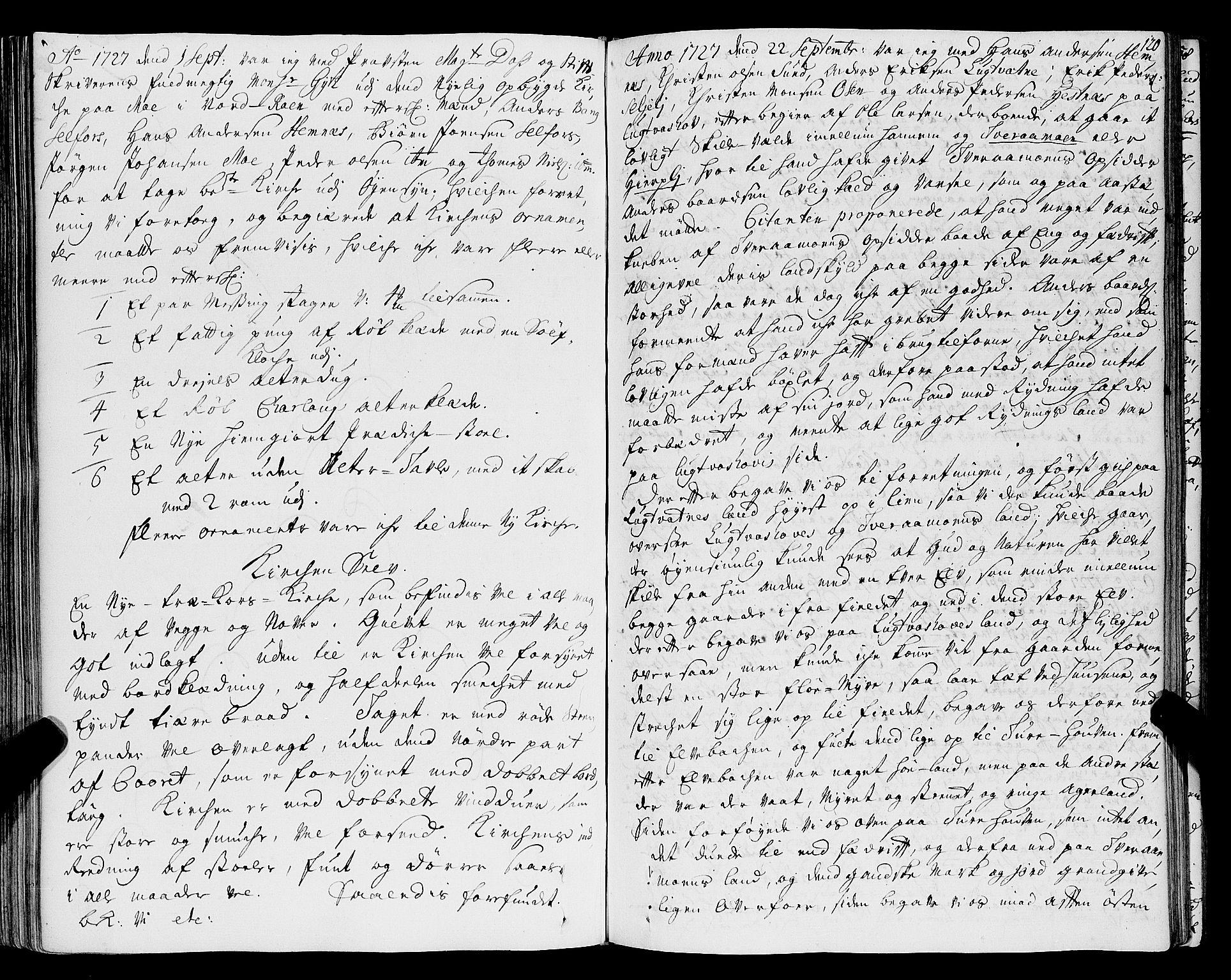 SAT, Helgeland sorenskriveri, 1/1A/L0007: Tingbok 8, 1726-1730, s. 119b-120a