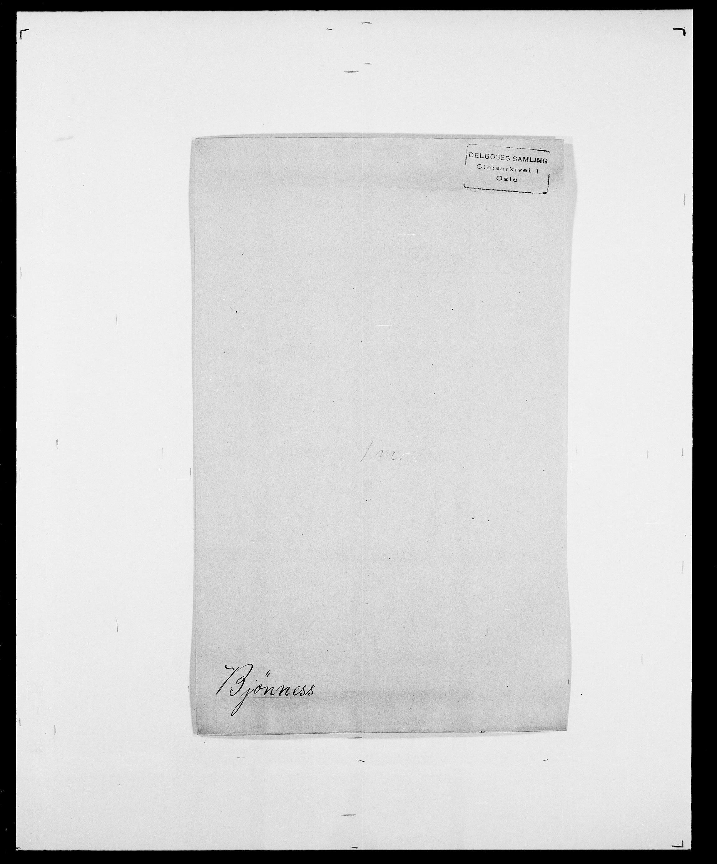 SAO, Delgobe, Charles Antoine - samling, D/Da/L0004: Bergendahl - Blære, s. 443