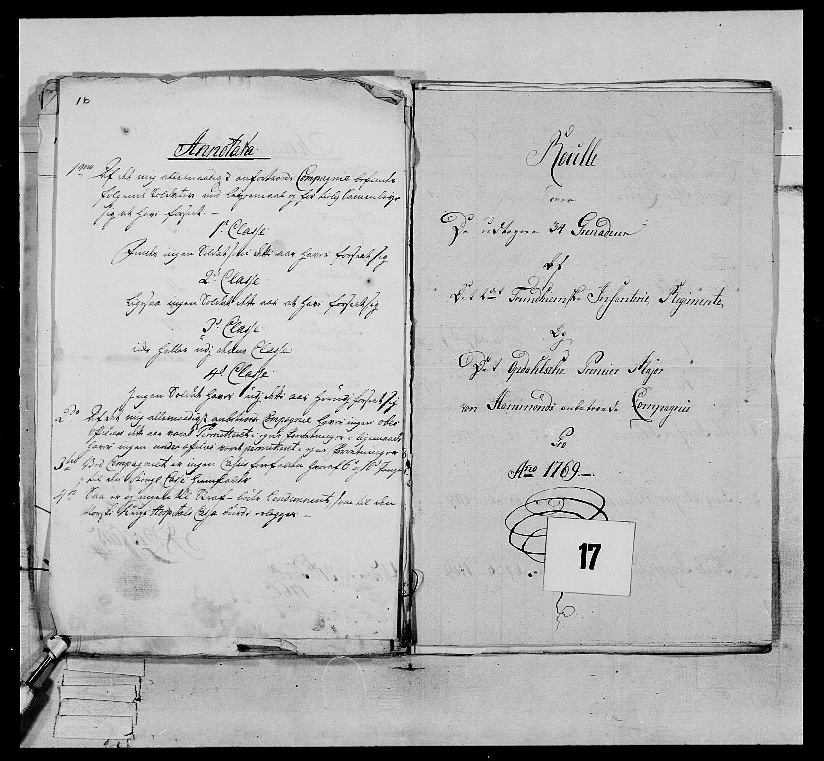 RA, Generalitets- og kommissariatskollegiet, Det kongelige norske kommissariatskollegium, E/Eh/L0076: 2. Trondheimske nasjonale infanteriregiment, 1766-1773, s. 30