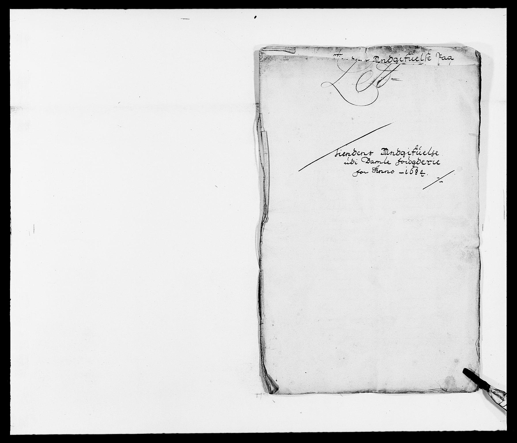 RA, Rentekammeret inntil 1814, Reviderte regnskaper, Fogderegnskap, R34/L2047: Fogderegnskap Bamble, 1684, s. 5