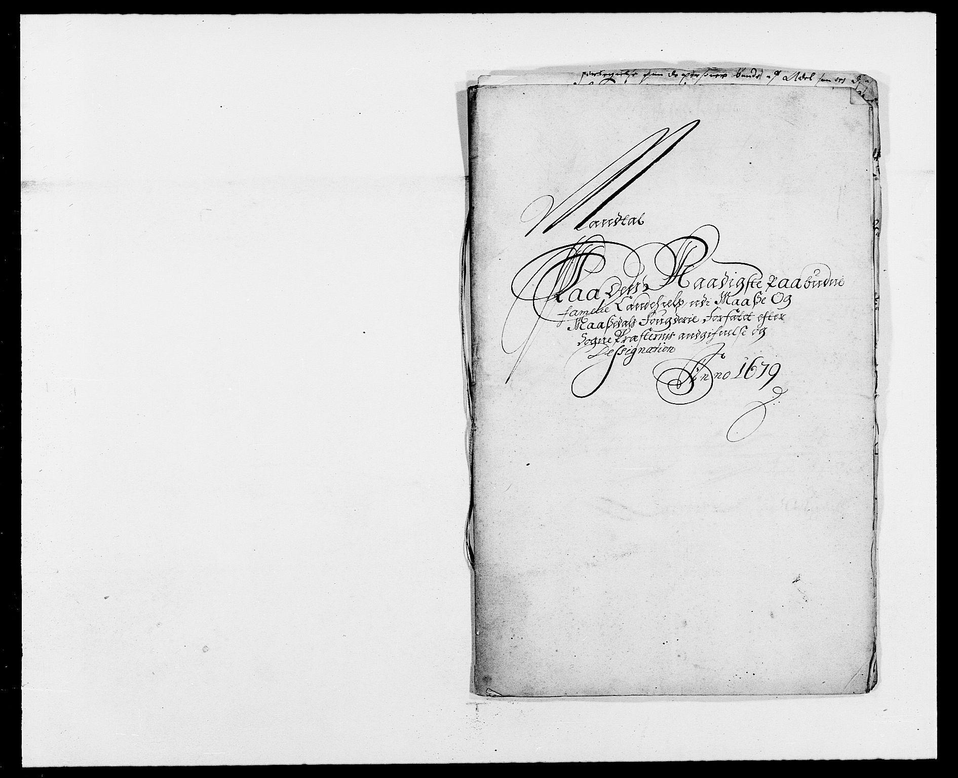 RA, Rentekammeret inntil 1814, Reviderte regnskaper, Fogderegnskap, R02/L0100: Fogderegnskap Moss og Verne kloster, 1679, s. 316