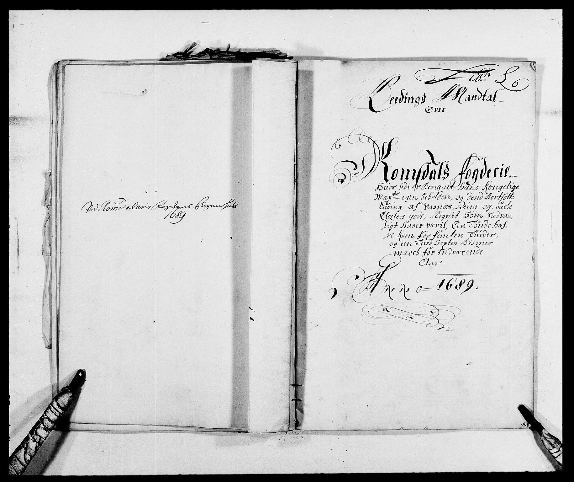 RA, Rentekammeret inntil 1814, Reviderte regnskaper, Fogderegnskap, R55/L3648: Fogderegnskap Romsdal, 1687-1689, s. 375
