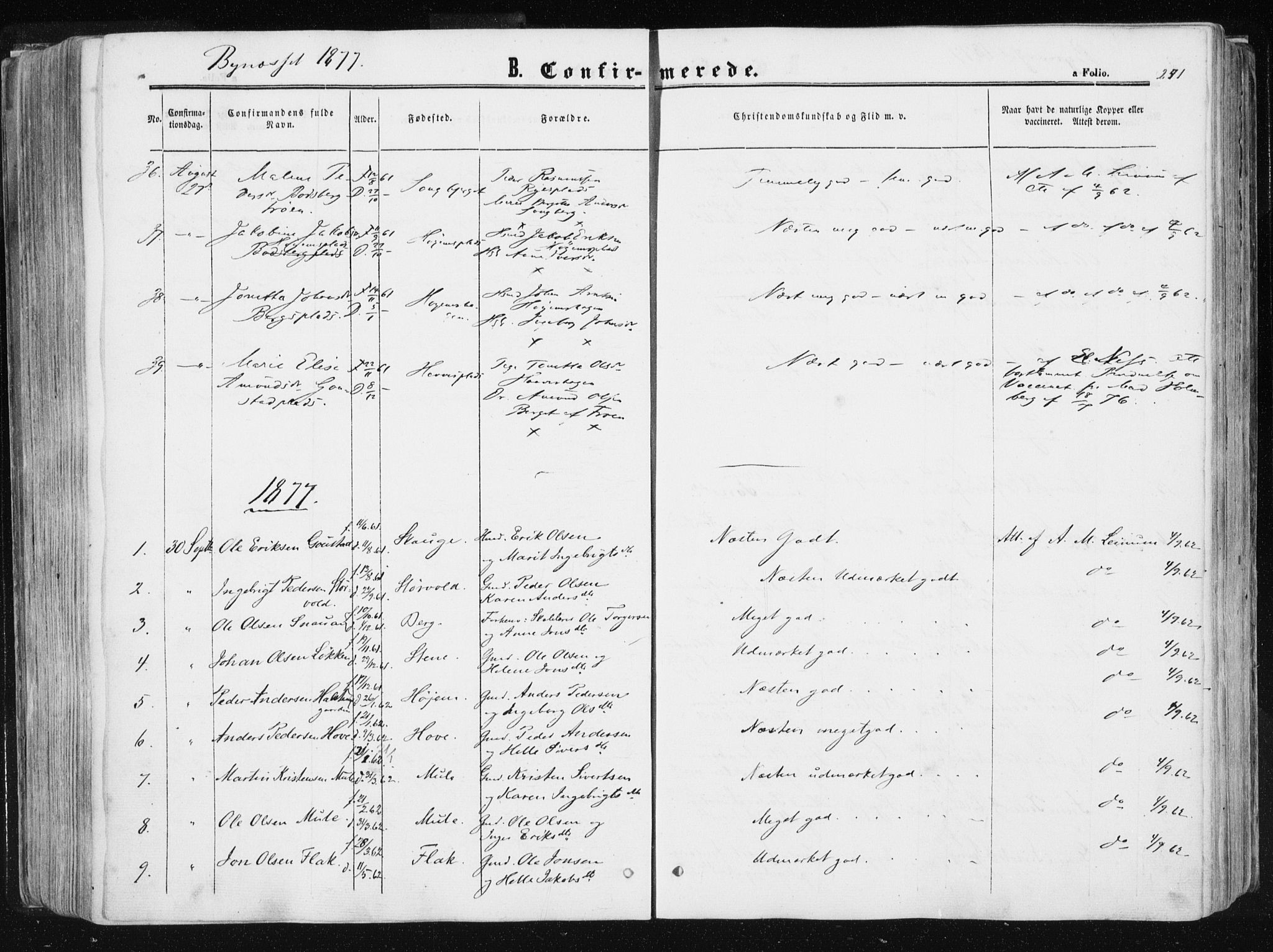 SAT, Ministerialprotokoller, klokkerbøker og fødselsregistre - Sør-Trøndelag, 612/L0377: Ministerialbok nr. 612A09, 1859-1877, s. 241