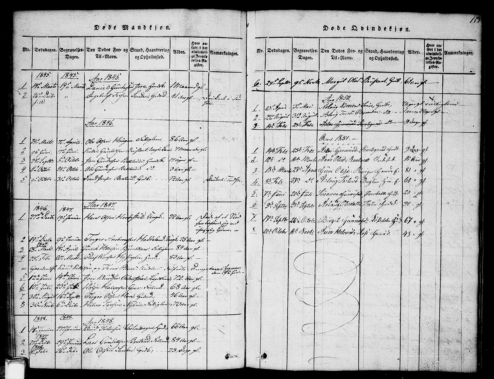 SAKO, Gransherad kirkebøker, G/Gb/L0001: Klokkerbok nr. II 1, 1815-1860, s. 113