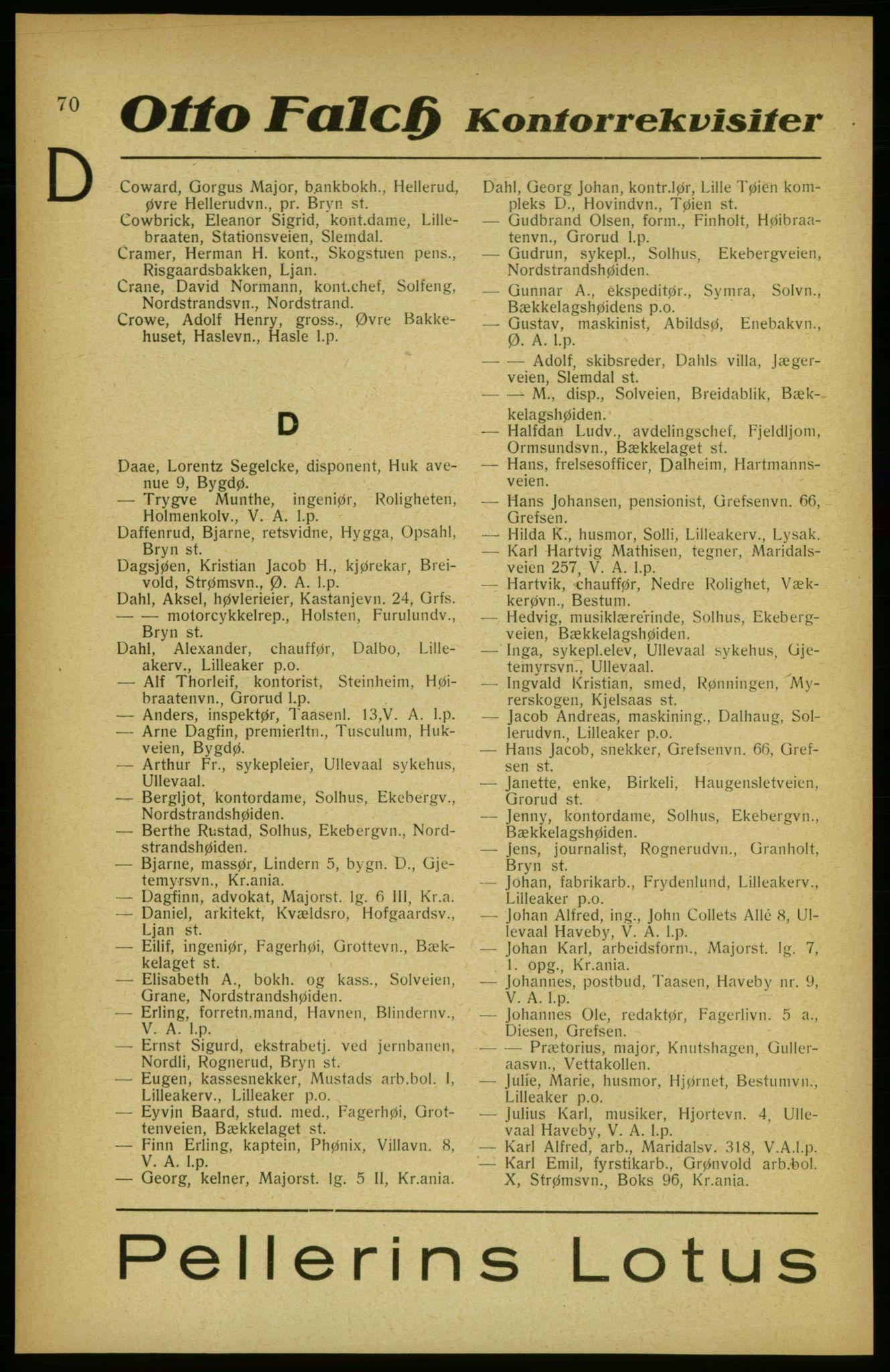 PUBL, Aker adressebok/adressekalender, 1922, s. 70