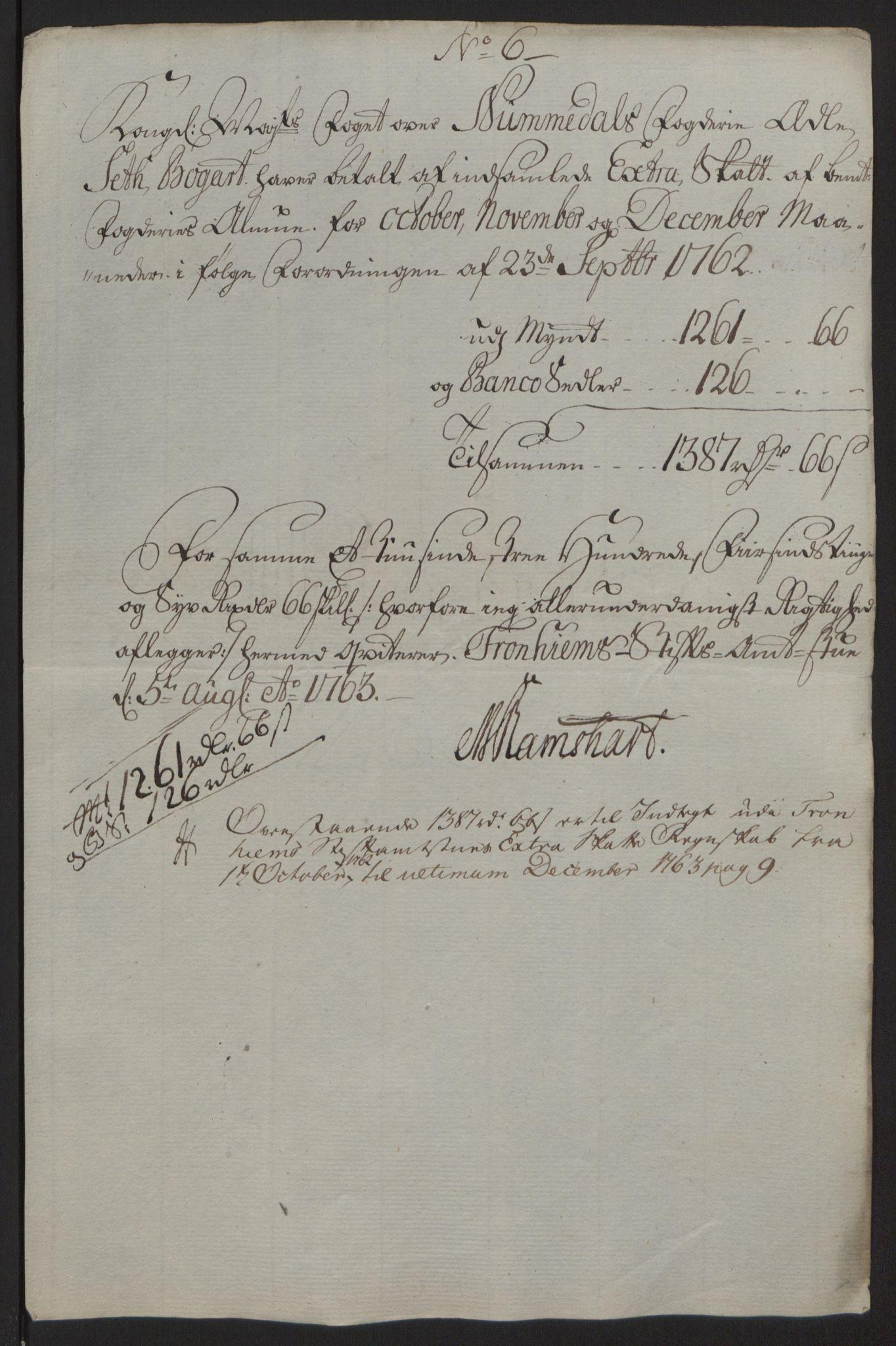 RA, Rentekammeret inntil 1814, Reviderte regnskaper, Fogderegnskap, R64/L4502: Ekstraskatten Namdal, 1762-1772, s. 50
