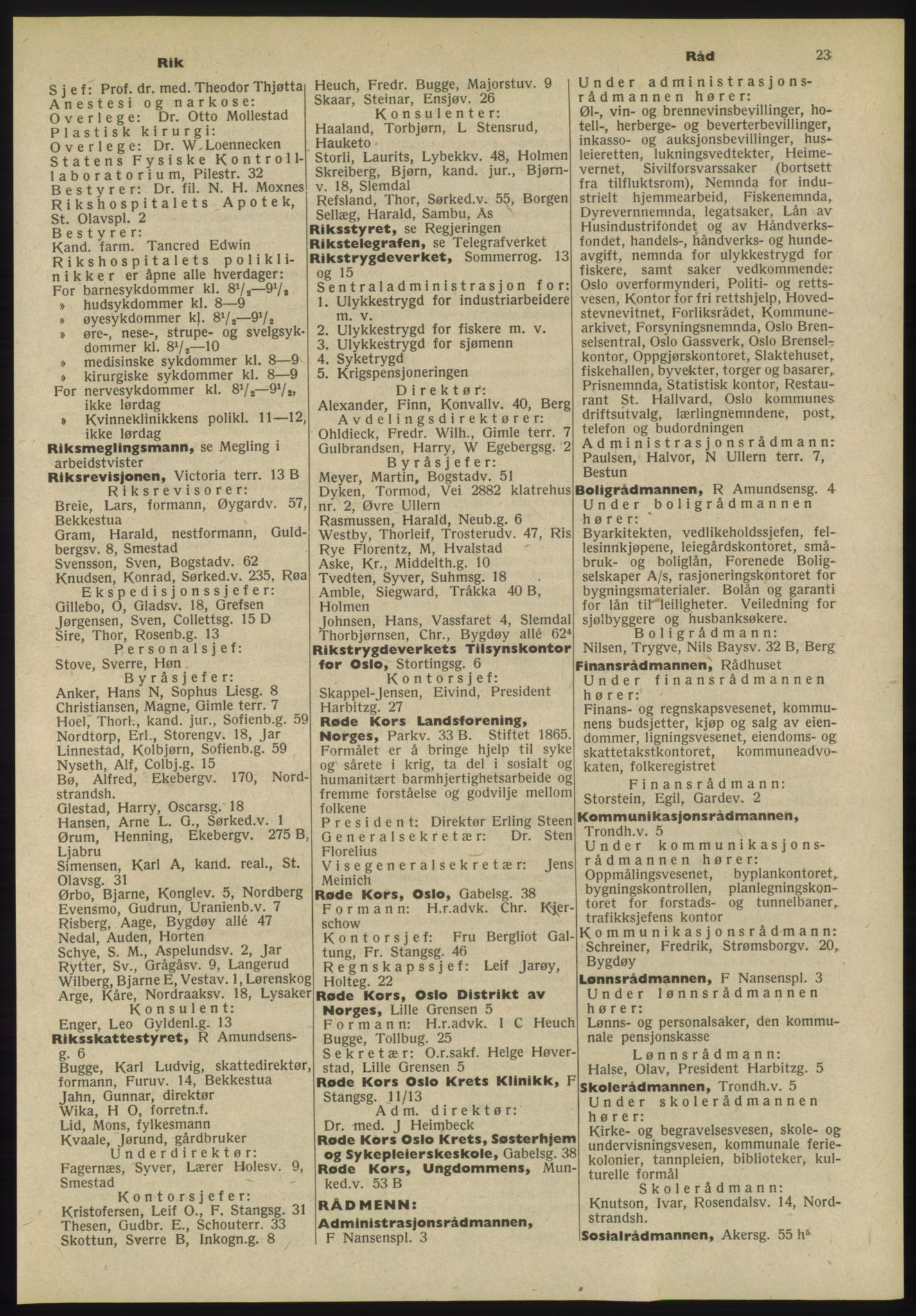 PUBL, Kristiania/Oslo adressebok, 1955, s. 23