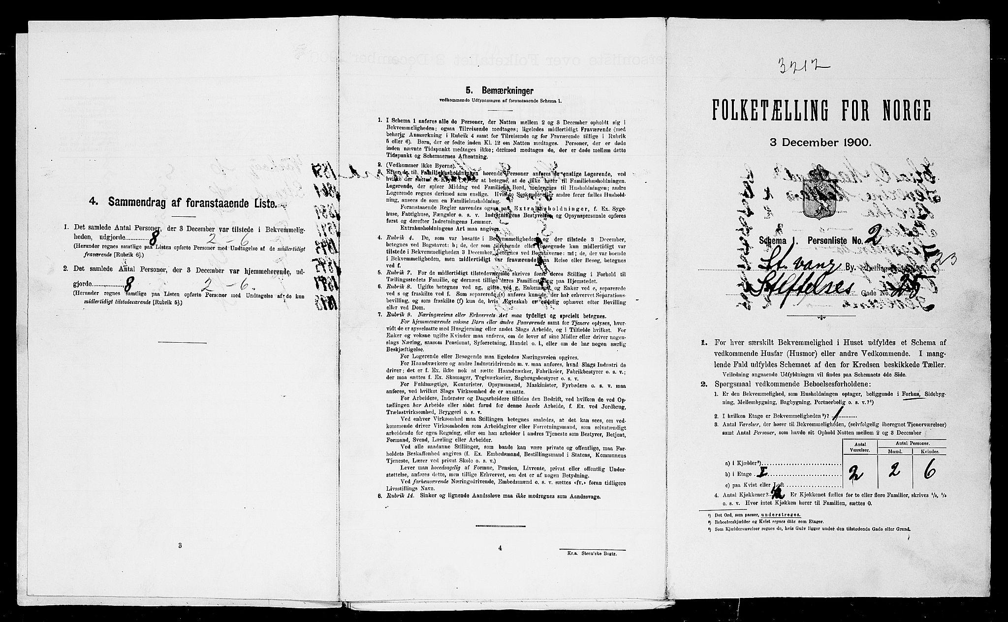 SAST, Folketelling 1900 for 1103 Stavanger kjøpstad, 1900, s. 8851