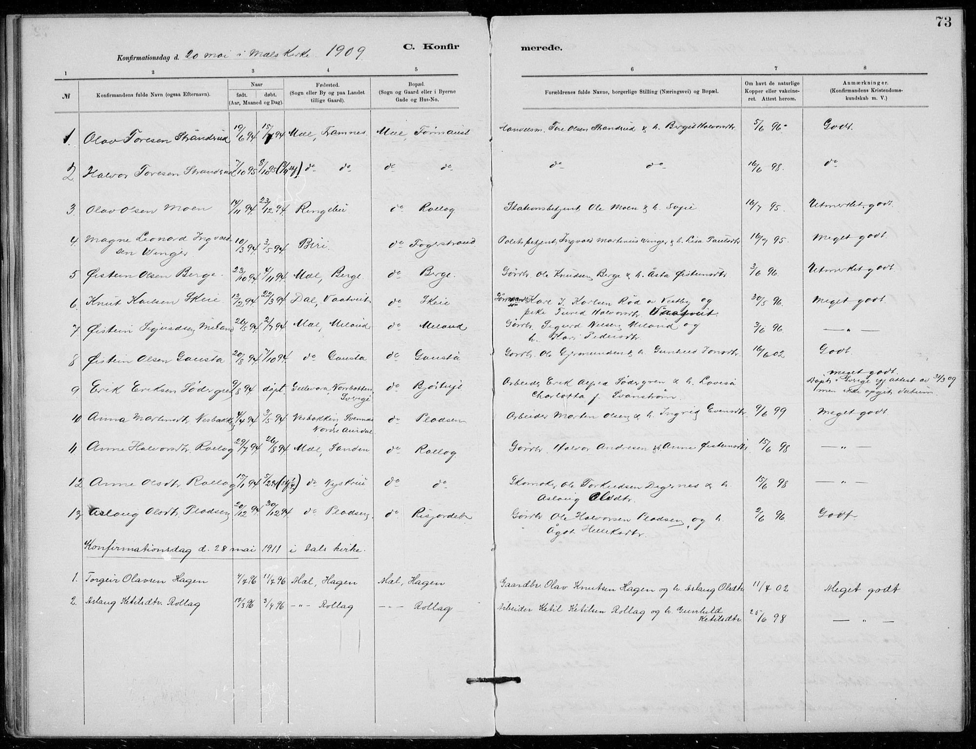 SAKO, Tinn kirkebøker, F/Fb/L0002: Ministerialbok nr. II 2, 1878-1917, s. 73