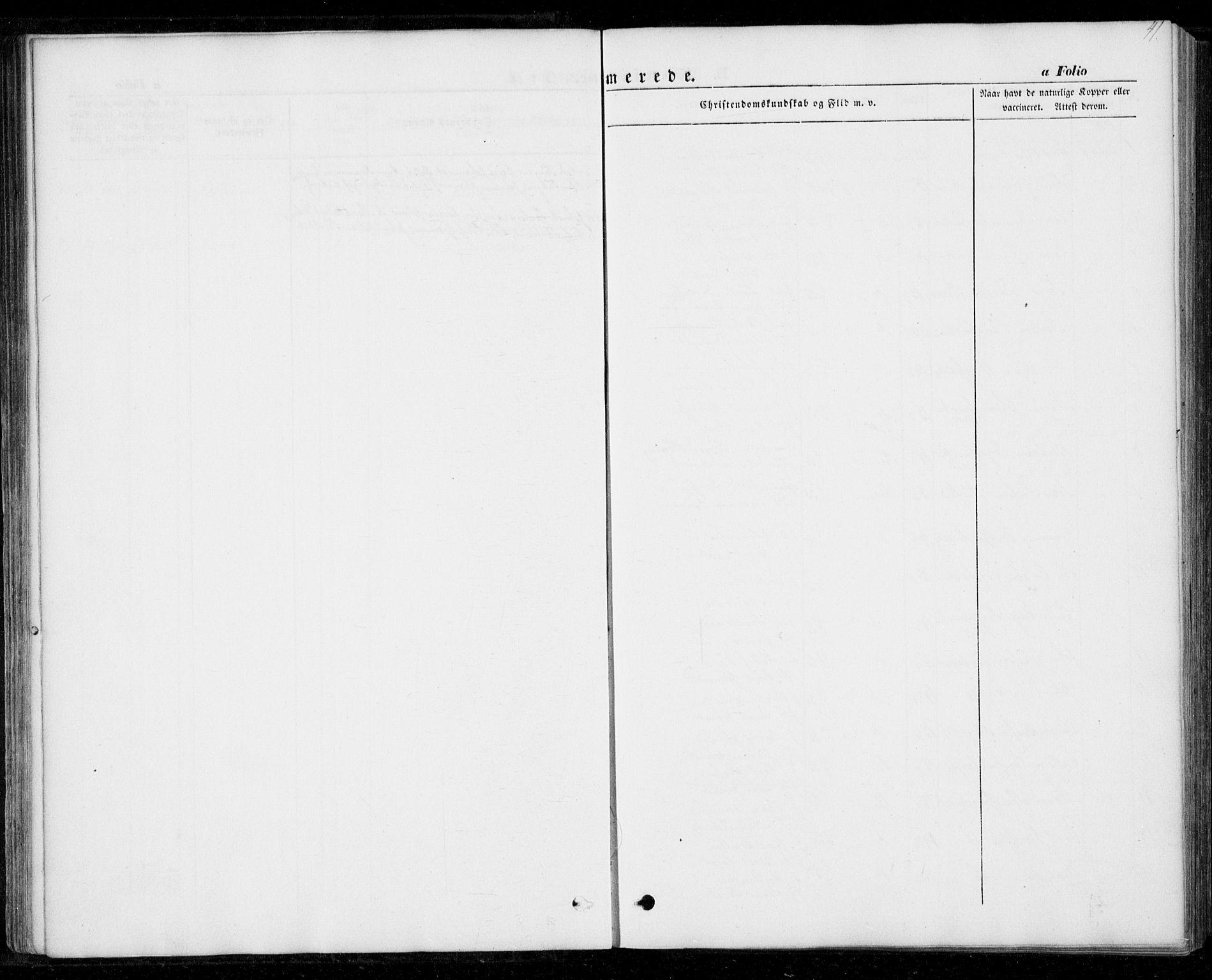 SAT, Ministerialprotokoller, klokkerbøker og fødselsregistre - Nord-Trøndelag, 706/L0040: Ministerialbok nr. 706A01, 1850-1861, s. 41