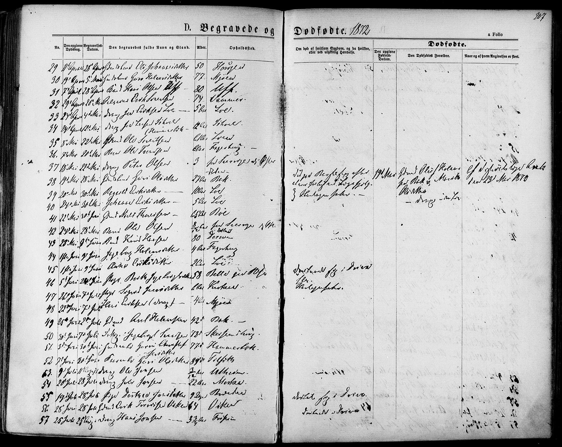 SAT, Ministerialprotokoller, klokkerbøker og fødselsregistre - Sør-Trøndelag, 678/L0900: Ministerialbok nr. 678A09, 1872-1881, s. 207