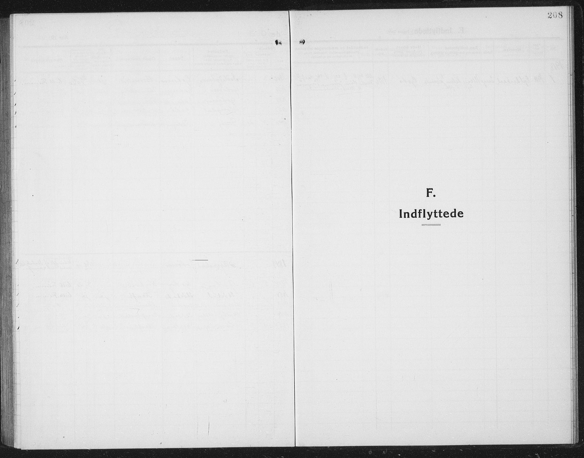 SAT, Ministerialprotokoller, klokkerbøker og fødselsregistre - Nordland, 804/L0089: Klokkerbok nr. 804C02, 1918-1935, s. 208