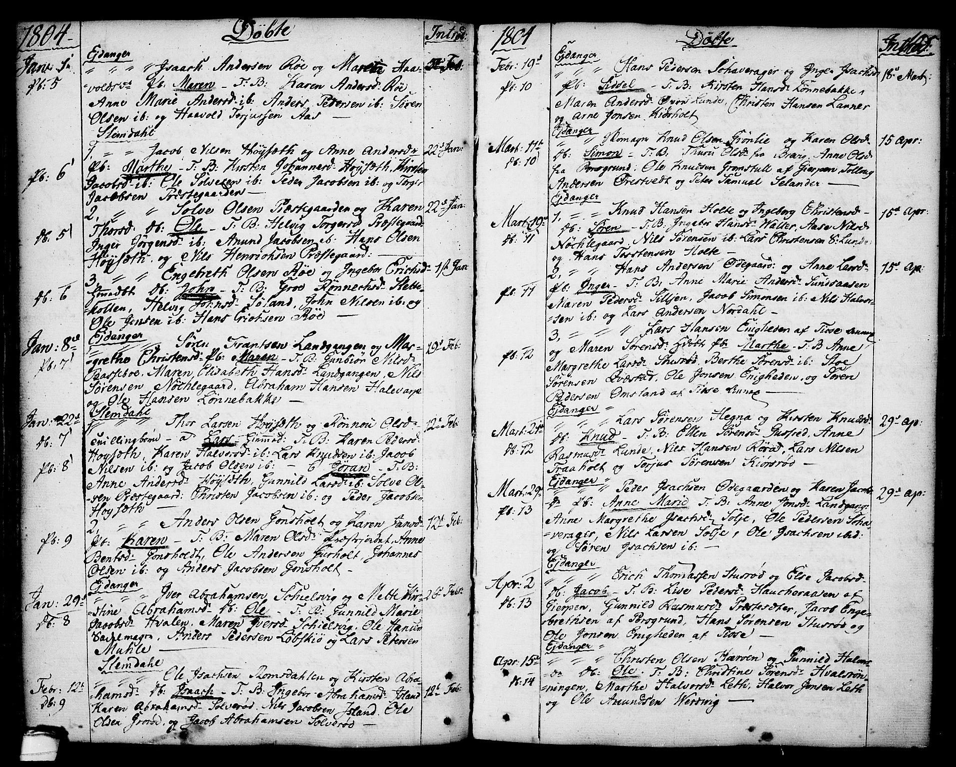 SAKO, Eidanger kirkebøker, F/Fa/L0006: Ministerialbok nr. 6, 1764-1814, s. 105