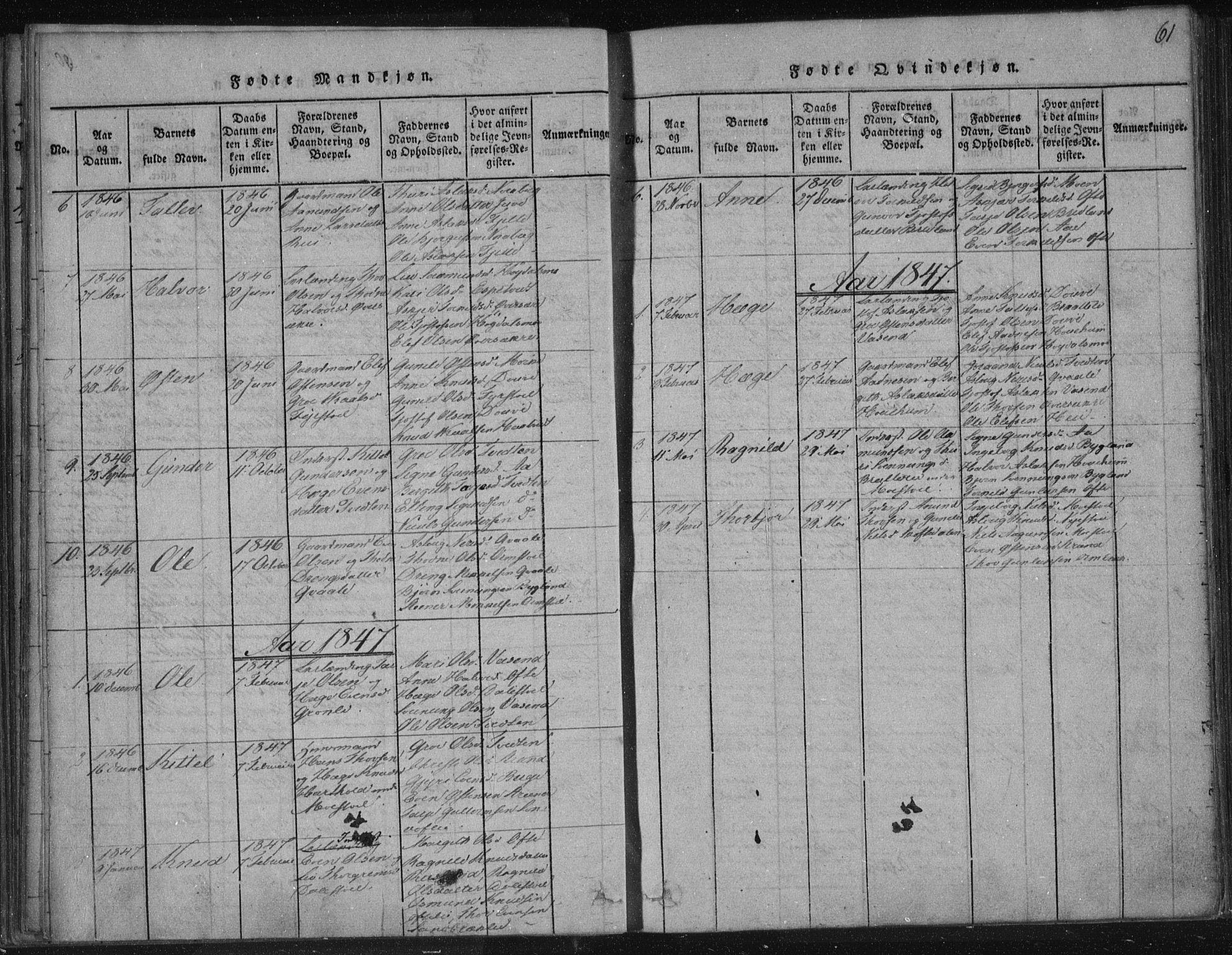 SAKO, Lårdal kirkebøker, F/Fc/L0001: Ministerialbok nr. III 1, 1815-1860, s. 61