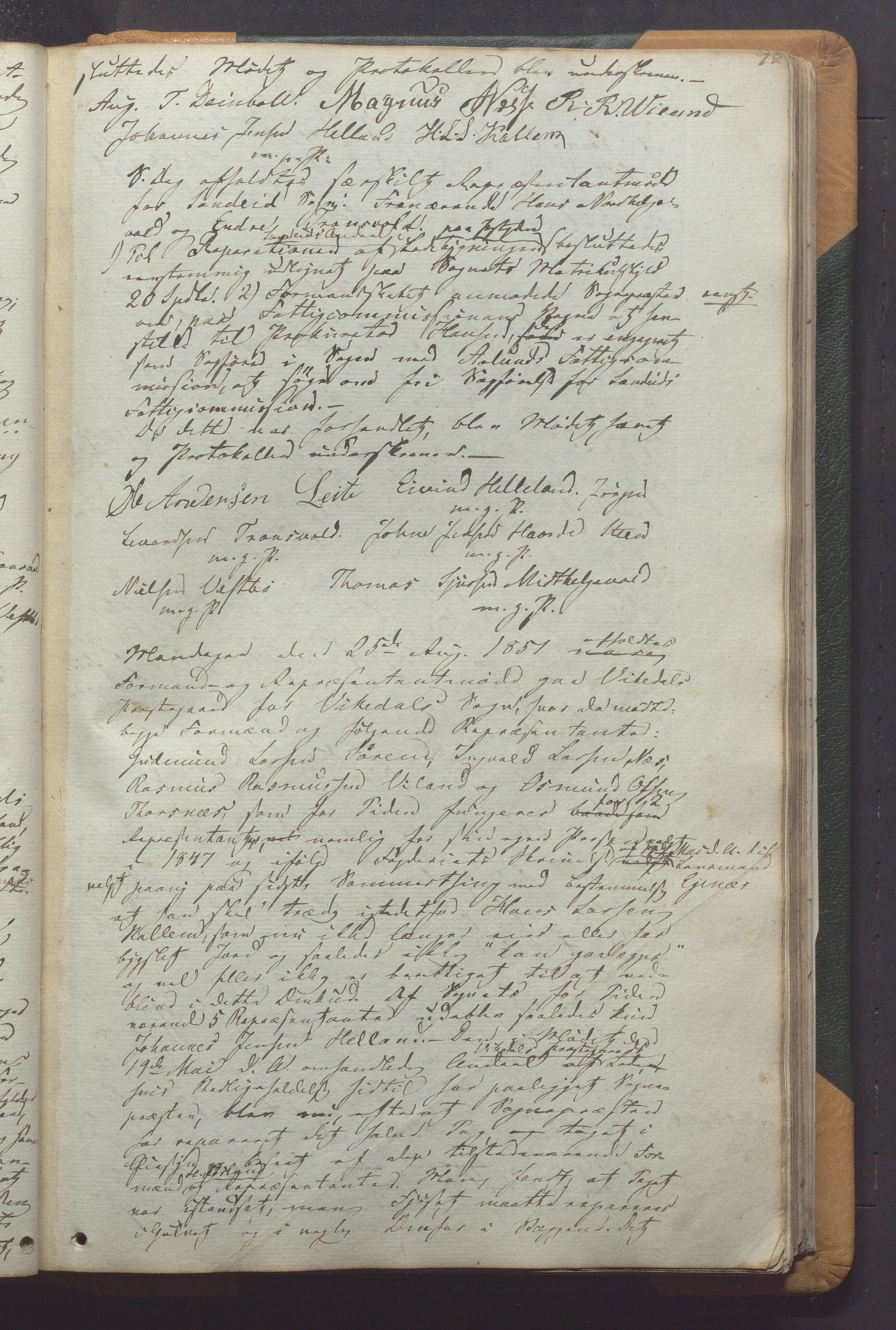 IKAR, Vikedal kommune - Formannskapet, Aaa/L0001: Møtebok, 1837-1874, s. 78a
