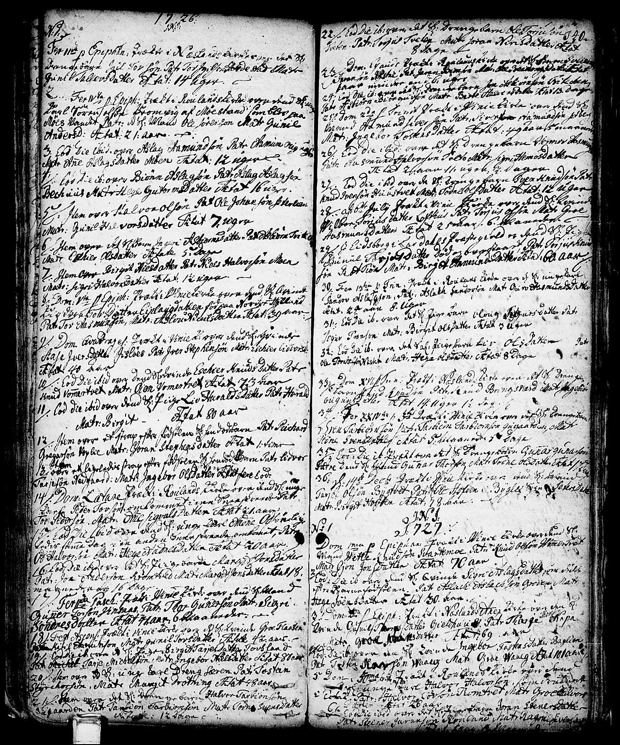 SAKO, Vinje kirkebøker, F/Fa/L0001: Ministerialbok nr. I 1, 1717-1766, s. 140