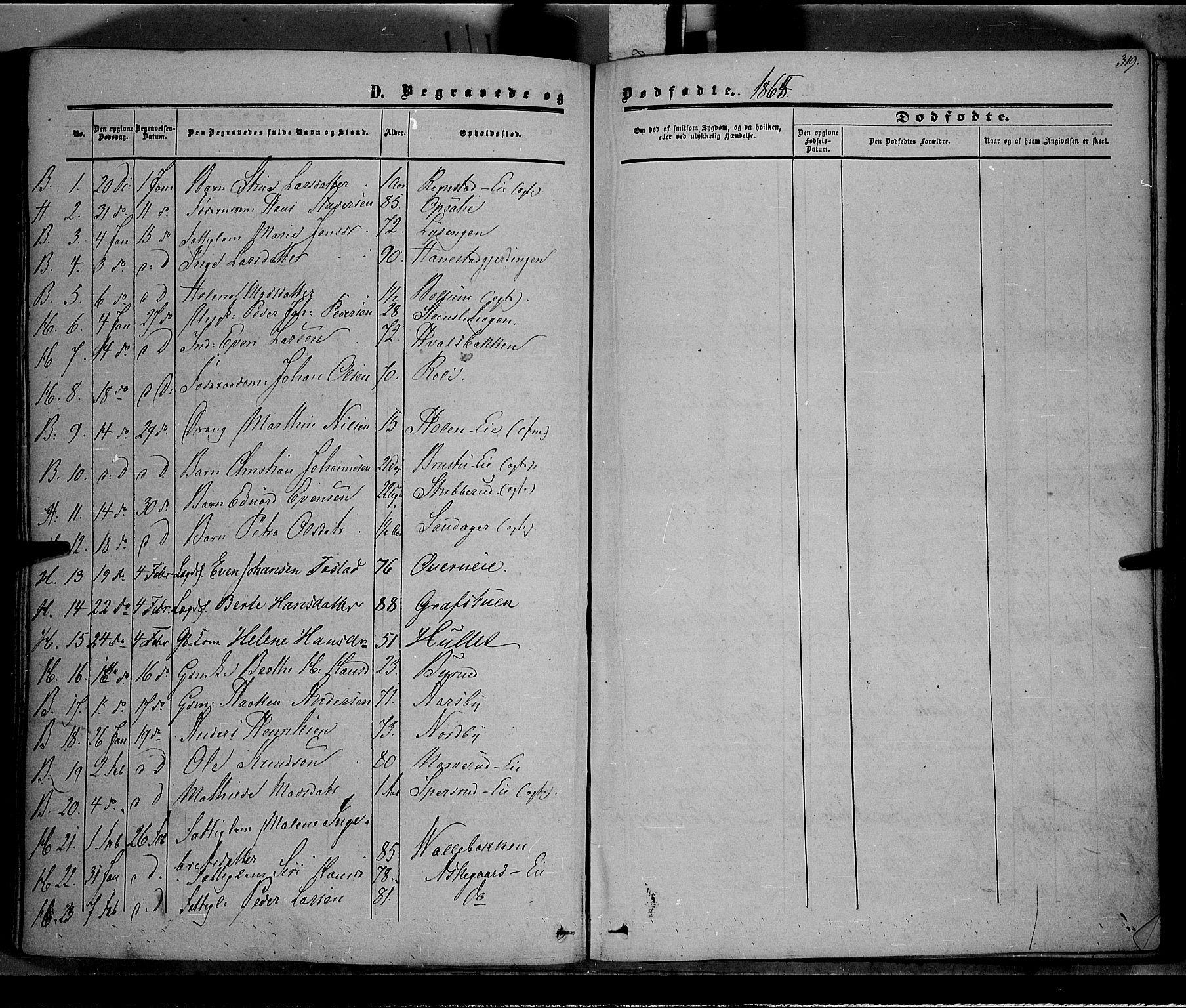 SAH, Østre Toten prestekontor, Ministerialbok nr. 4, 1857-1865, s. 319