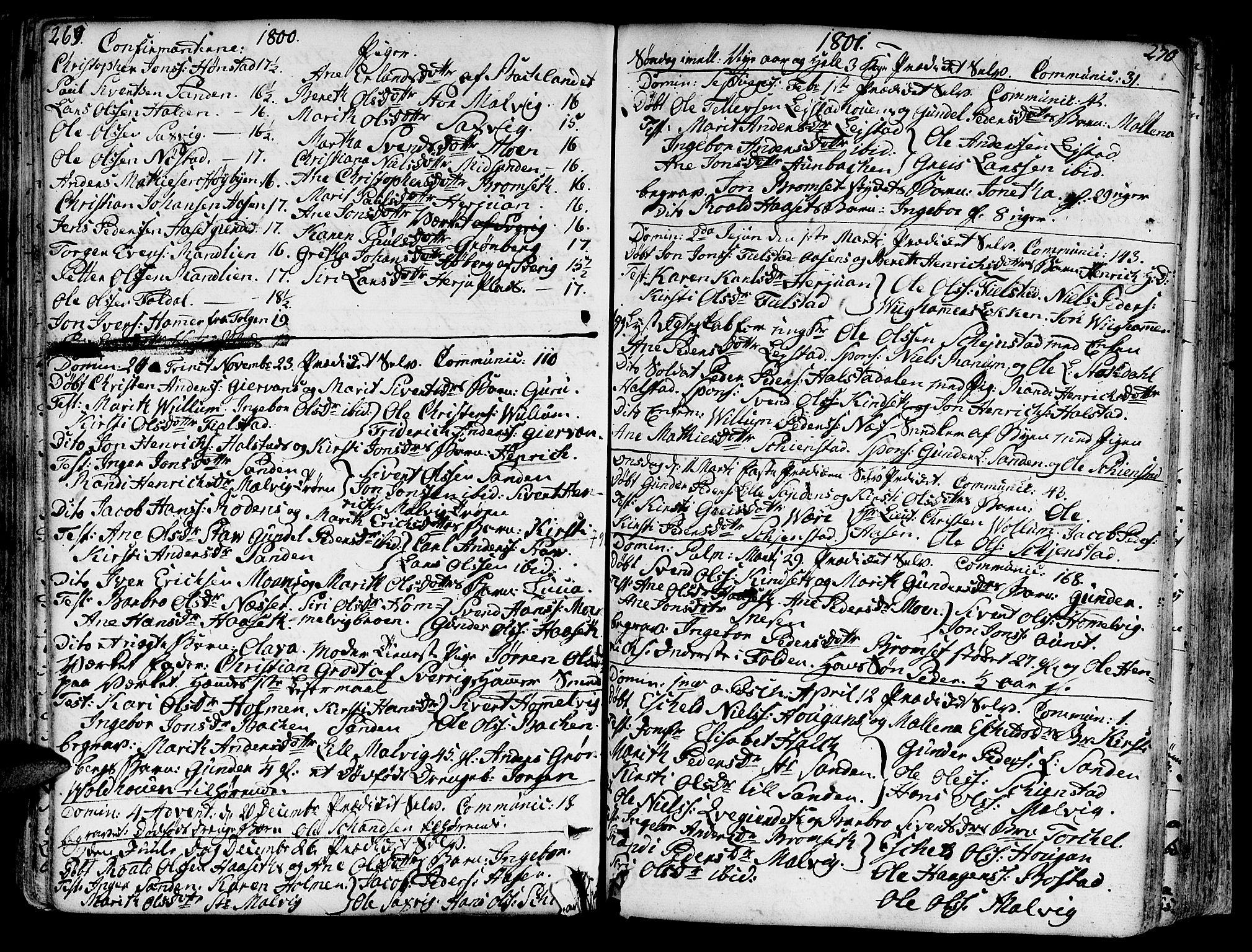 SAT, Ministerialprotokoller, klokkerbøker og fødselsregistre - Sør-Trøndelag, 606/L0281: Ministerialbok nr. 606A02 /2, 1781-1817, s. 269-270