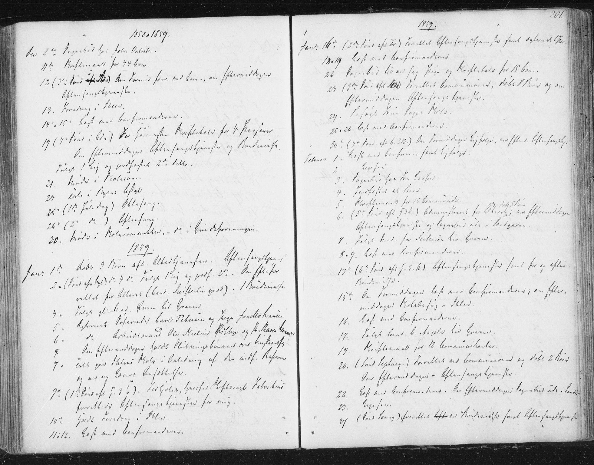 SAT, Ministerialprotokoller, klokkerbøker og fødselsregistre - Sør-Trøndelag, 602/L0127: Residerende kapellans bok nr. 602B01, 1821-1875, s. 201