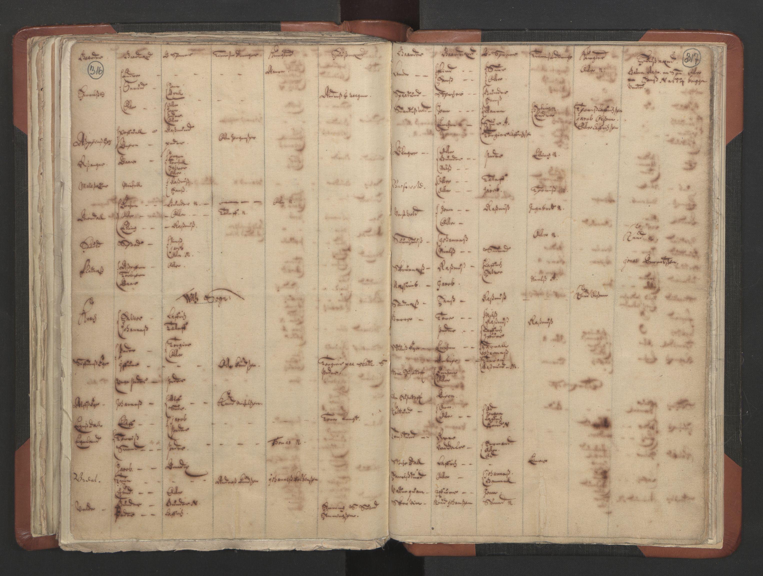 RA, Sogneprestenes manntall 1664-1666, nr. 19: Ryfylke prosti, 1664-1666, s. 316-317