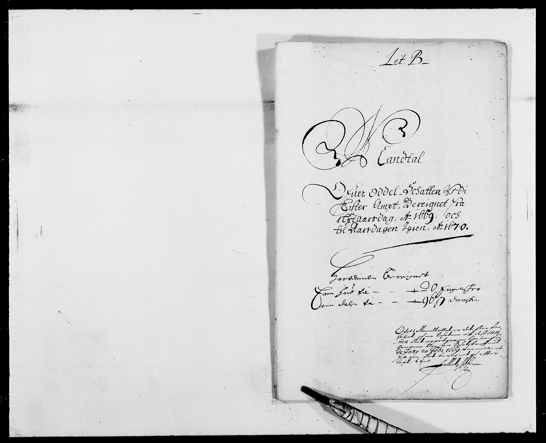 RA, Rentekammeret inntil 1814, Reviderte regnskaper, Fogderegnskap, R41/L2525: Fogderegnskap Lista, 1669-1671, s. 50