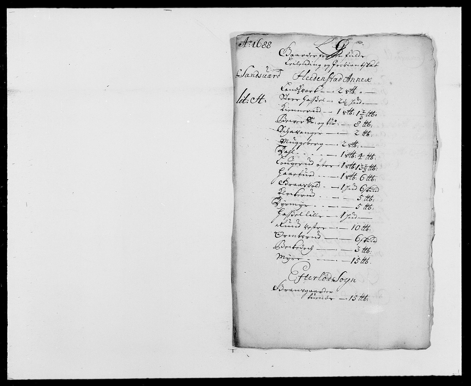 RA, Rentekammeret inntil 1814, Reviderte regnskaper, Fogderegnskap, R24/L1573: Fogderegnskap Numedal og Sandsvær, 1687-1691, s. 298