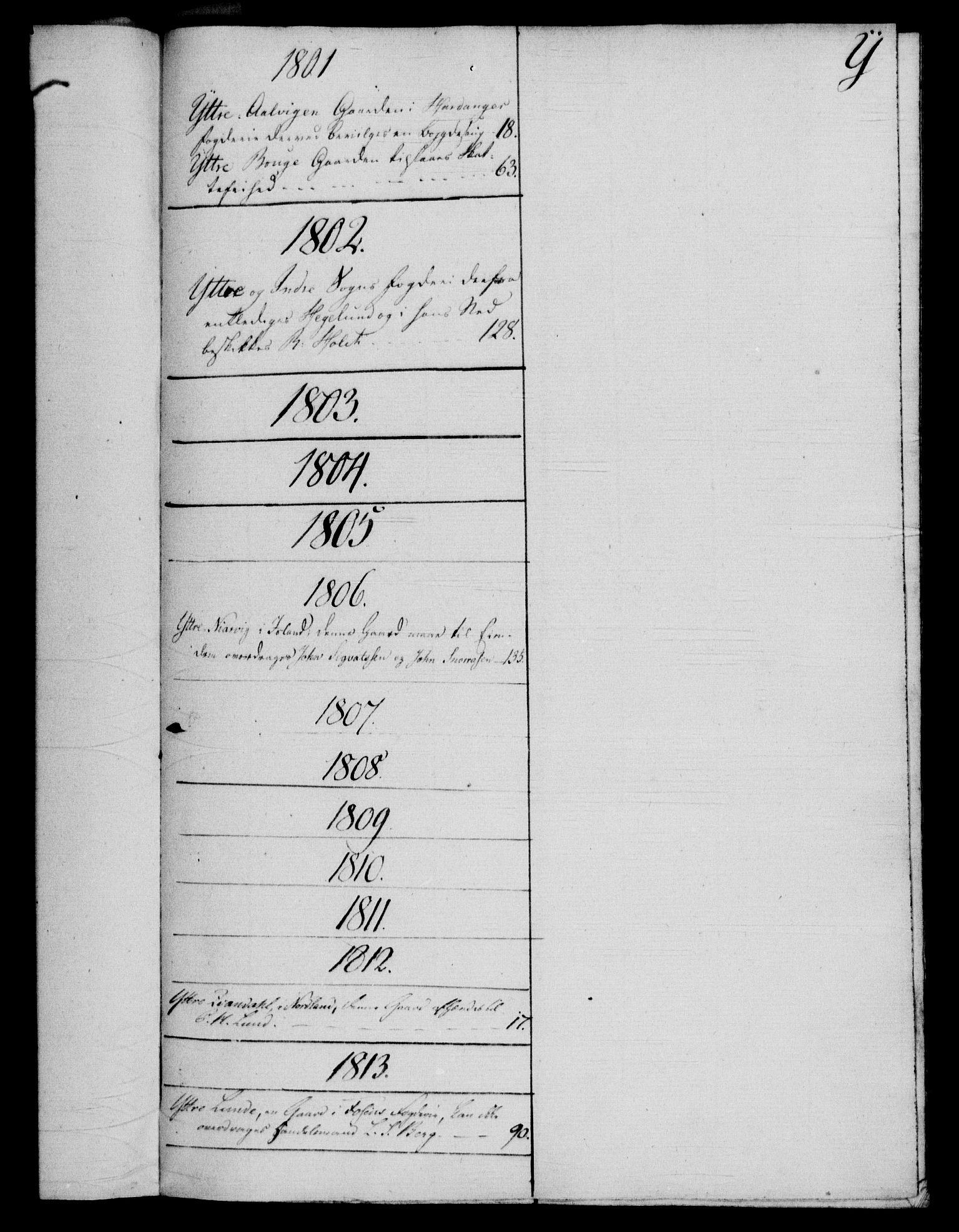 RA, Rentekammeret, Kammerkanselliet, G/Gf/Gfb/L0016: Register til norske relasjons- og resolusjonsprotokoller (merket RK 52.111), 1801-1814, s. 185
