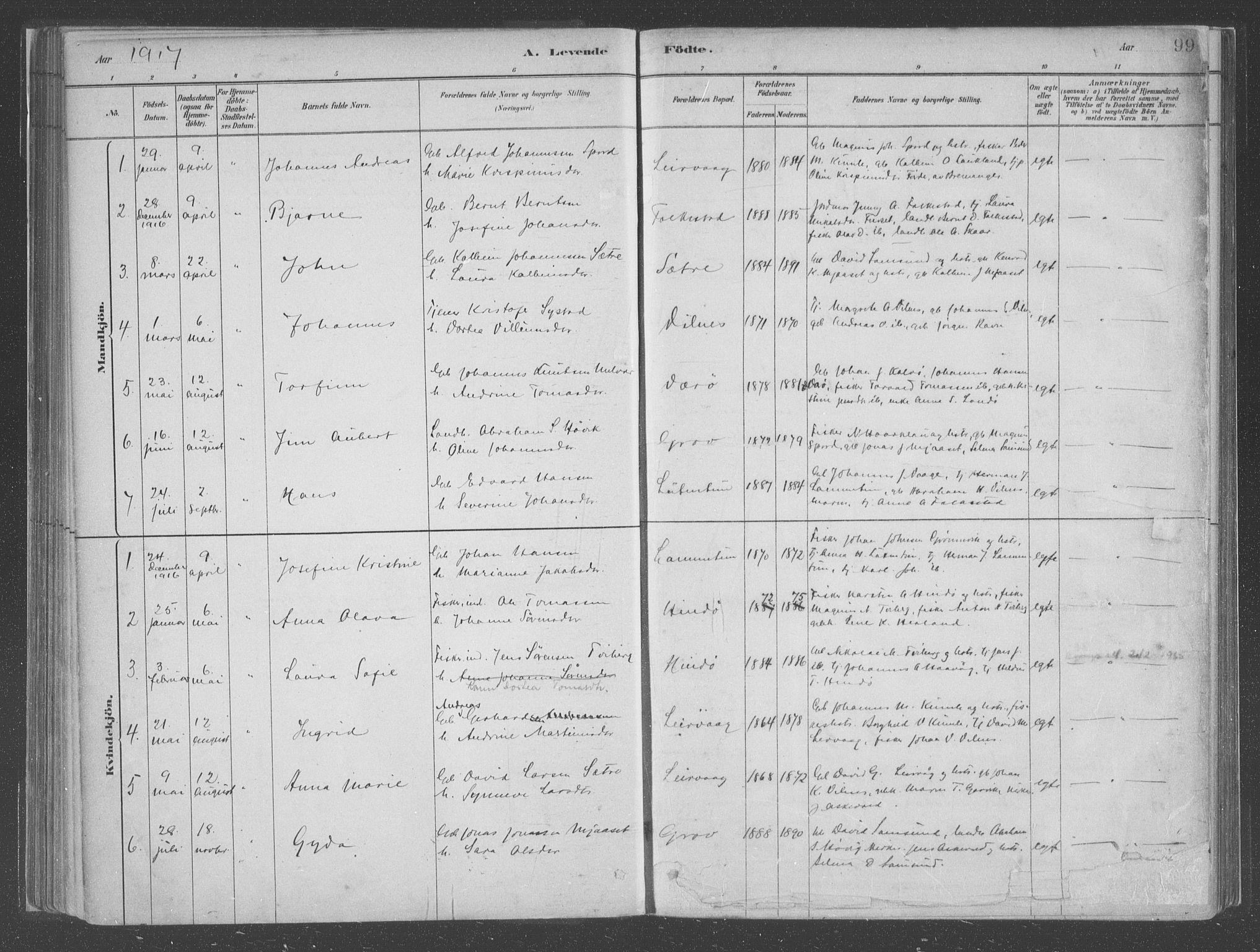 SAB, Askvoll Sokneprestembete, Ministerialbok nr. C  1, 1879-1922, s. 99