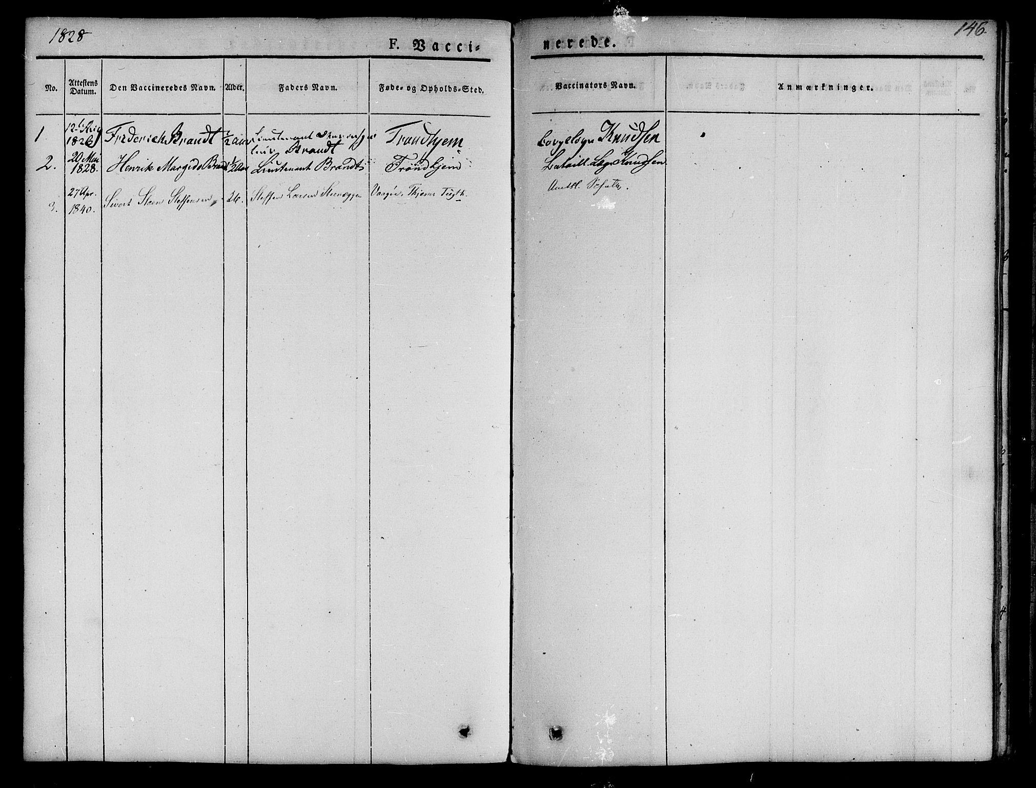 SAT, Ministerialprotokoller, klokkerbøker og fødselsregistre - Sør-Trøndelag, 623/L0468: Ministerialbok nr. 623A02, 1826-1867, s. 146