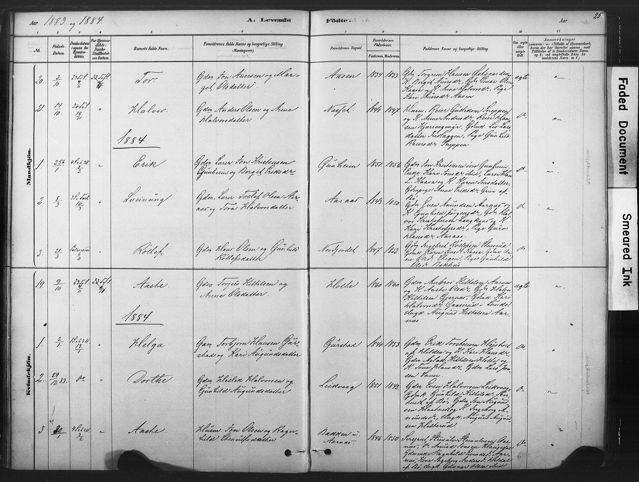 SAKO, Sauherad kirkebøker, F/Fb/L0002: Ministerialbok nr. II 2, 1878-1901, s. 25