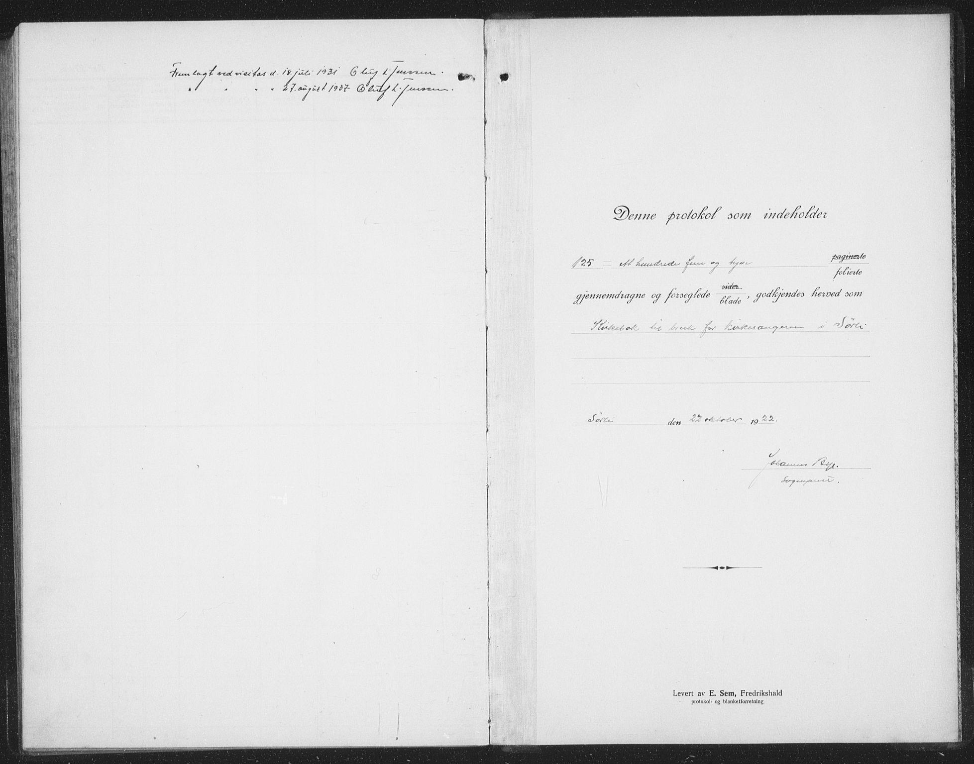 SAT, Ministerialprotokoller, klokkerbøker og fødselsregistre - Nord-Trøndelag, 757/L0507: Klokkerbok nr. 757C02, 1923-1939