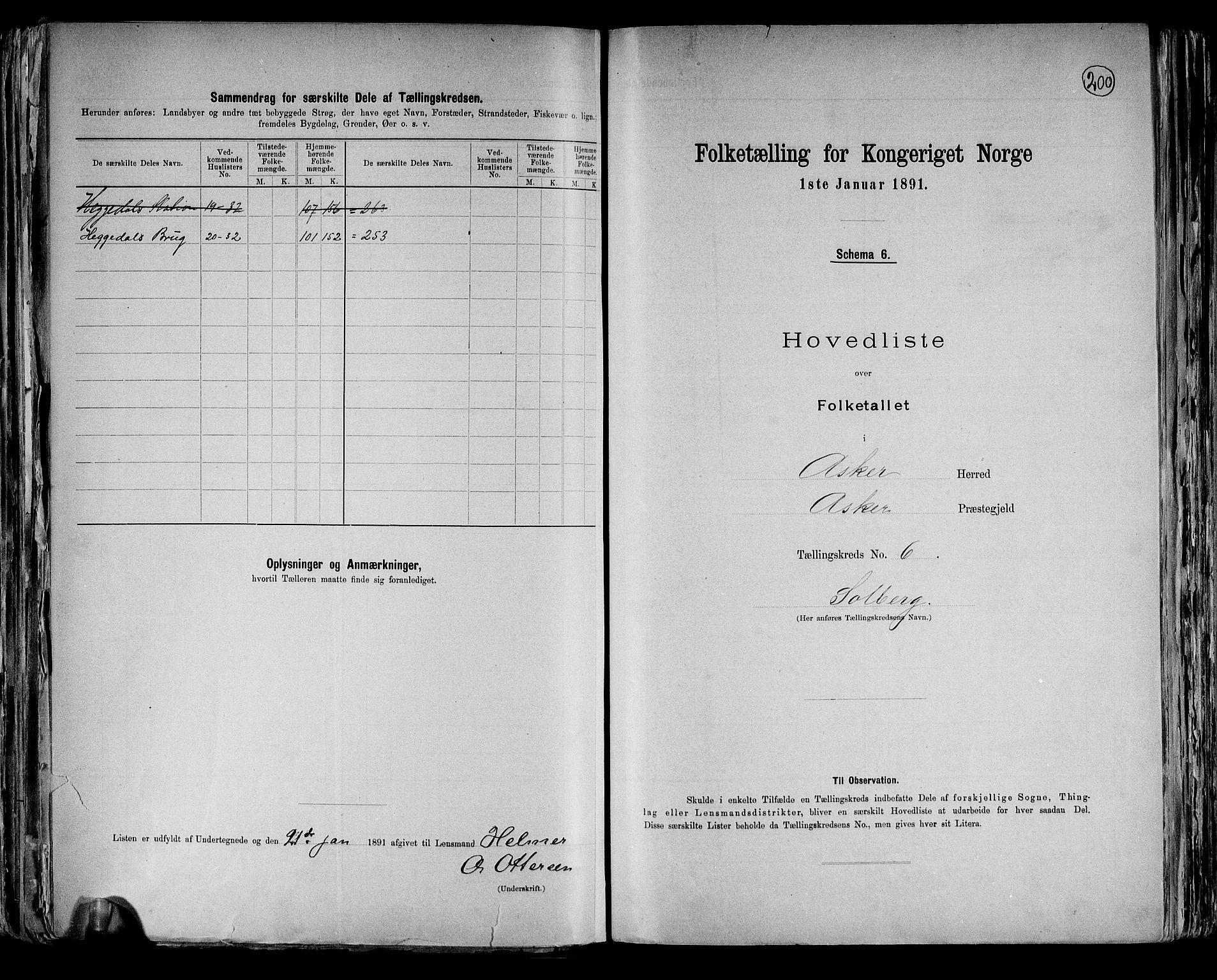 RA, Folketelling 1891 for 0220 Asker herred, 1891, s. 21