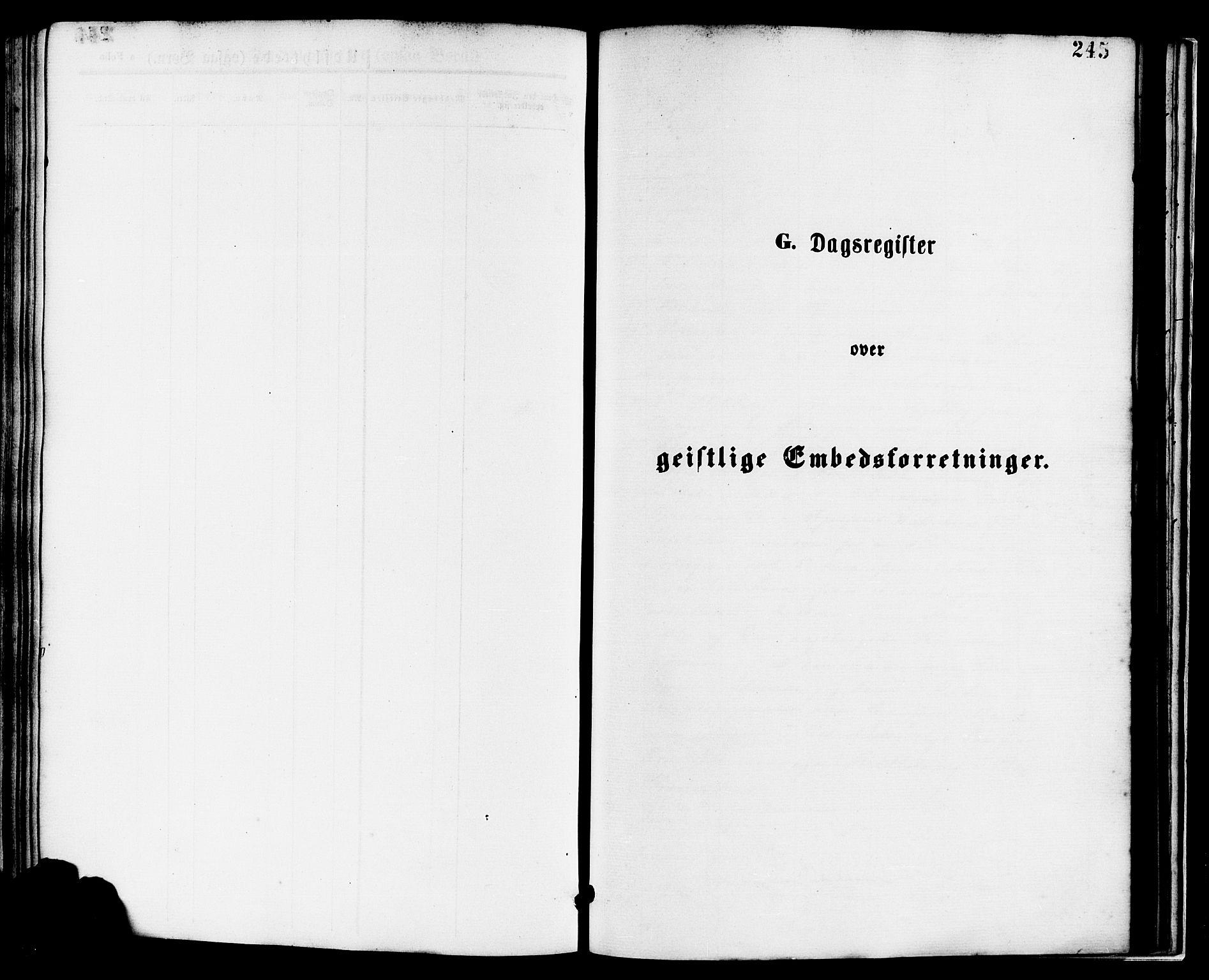 SAST, Nedstrand sokneprestkontor, IV: Ministerialbok nr. A 11, 1877-1887, s. 245