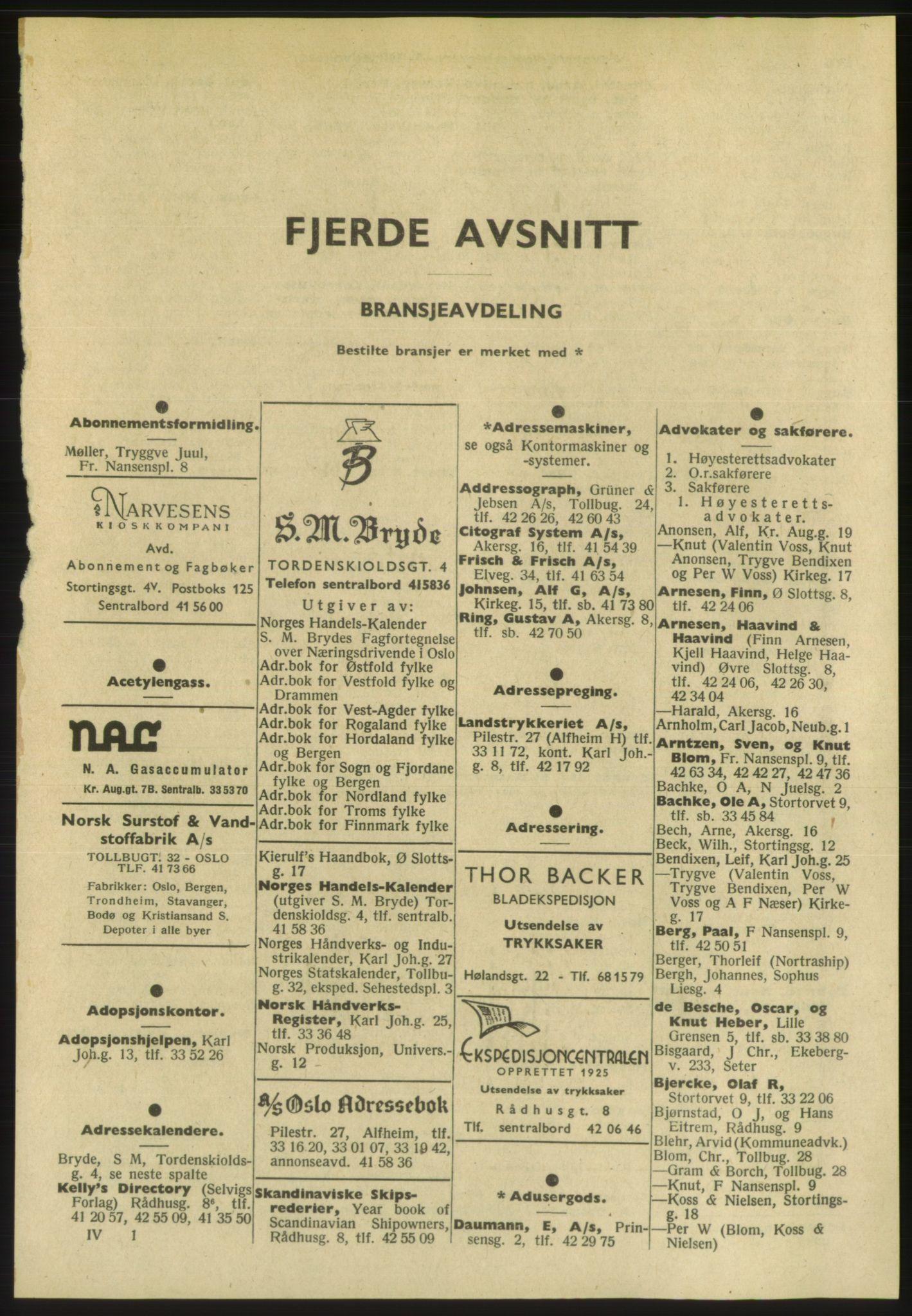PUBL, Kristiania/Oslo adressebok, 1954, s. 2305