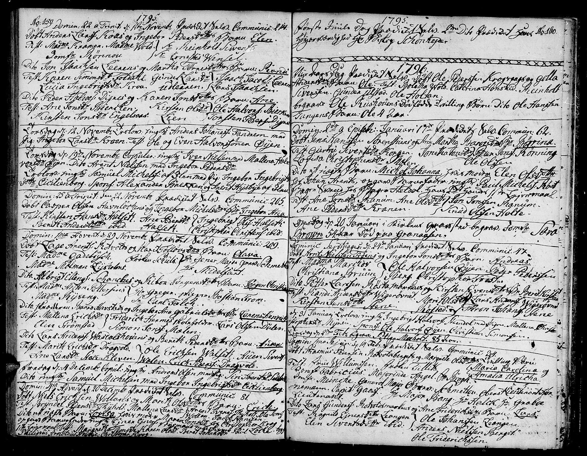 SAT, Ministerialprotokoller, klokkerbøker og fødselsregistre - Sør-Trøndelag, 604/L0180: Ministerialbok nr. 604A01, 1780-1797, s. 159-160