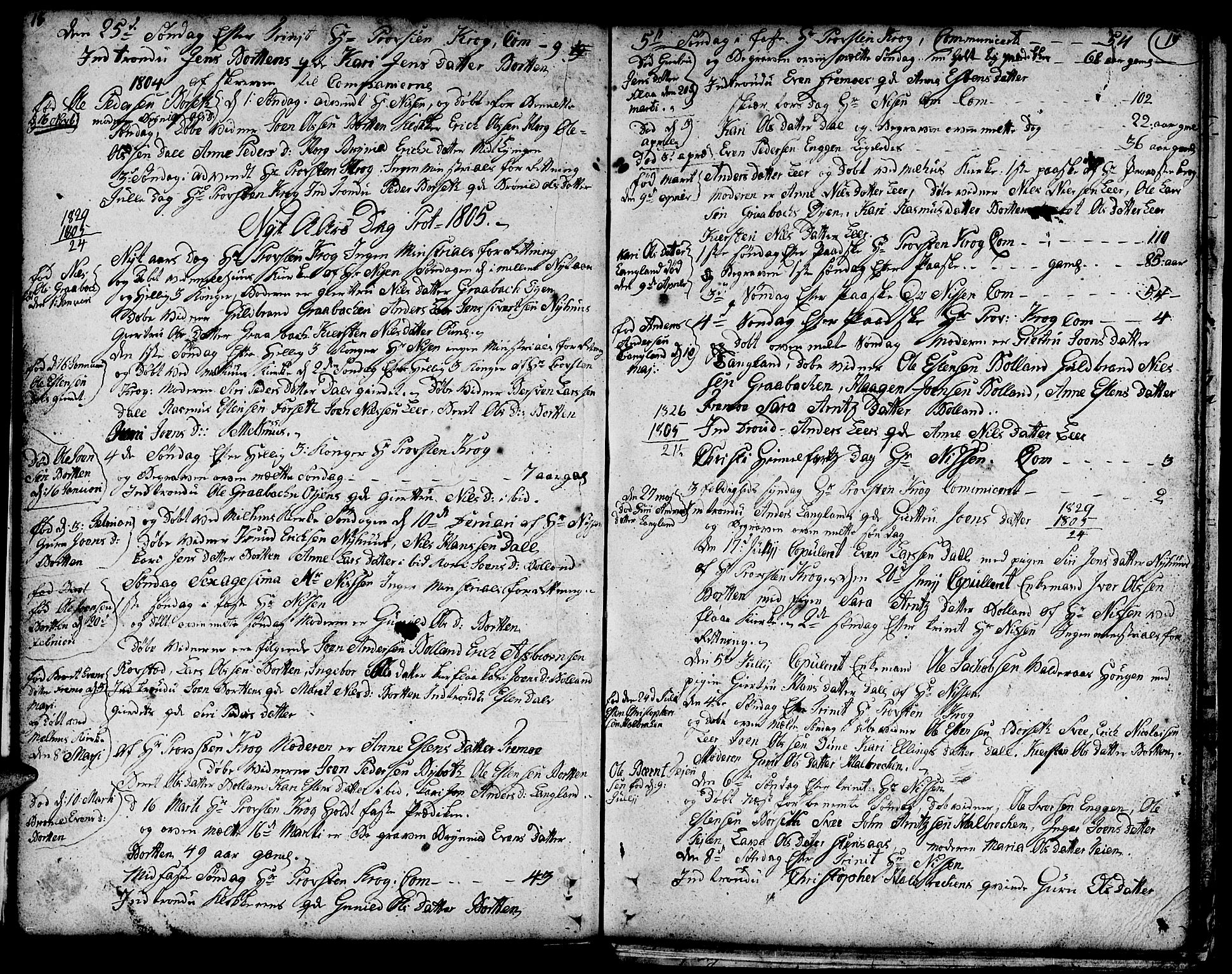 SAT, Ministerialprotokoller, klokkerbøker og fødselsregistre - Sør-Trøndelag, 693/L1120: Klokkerbok nr. 693C01, 1799-1816, s. 18-19