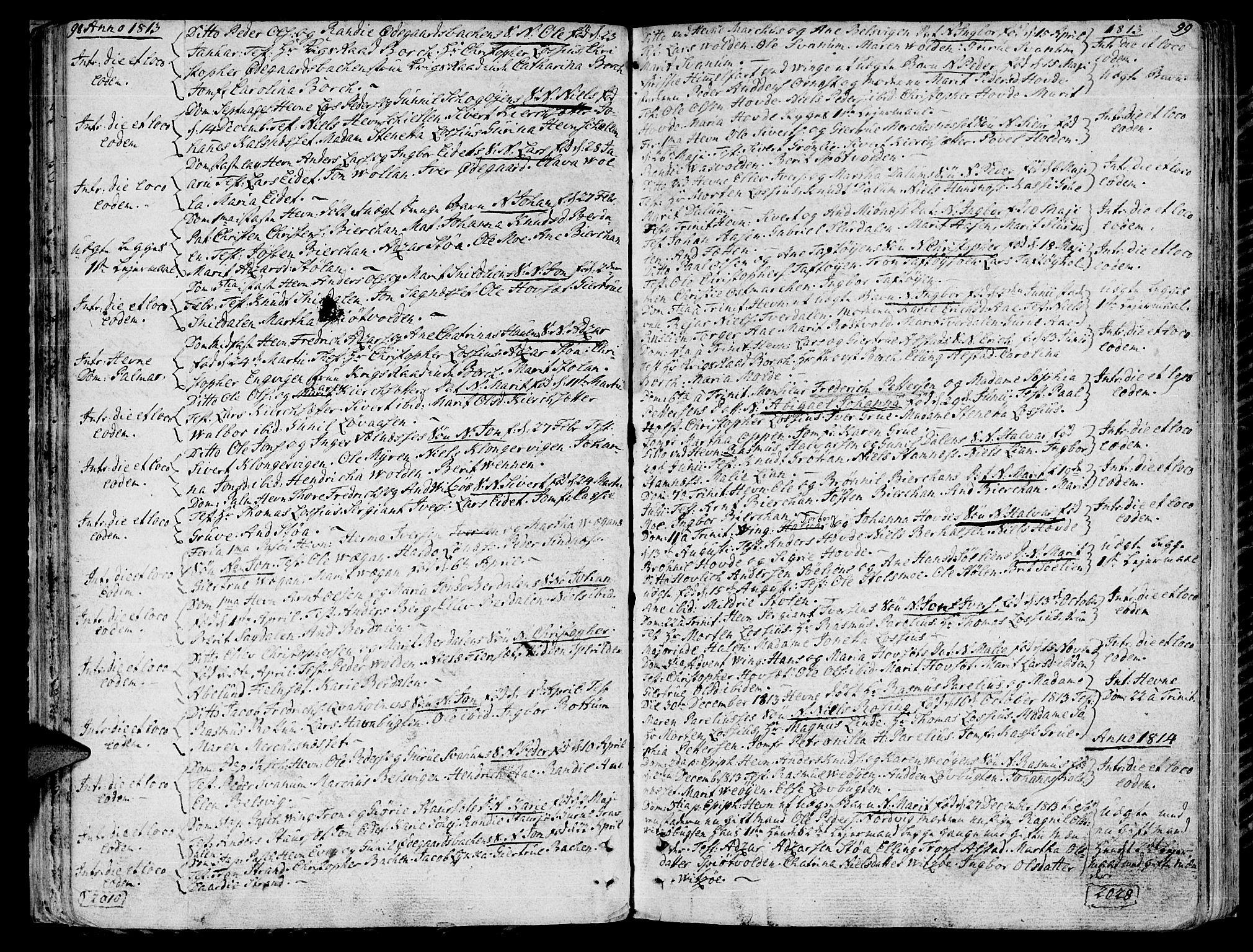 SAT, Ministerialprotokoller, klokkerbøker og fødselsregistre - Sør-Trøndelag, 630/L0490: Ministerialbok nr. 630A03, 1795-1818, s. 98-99