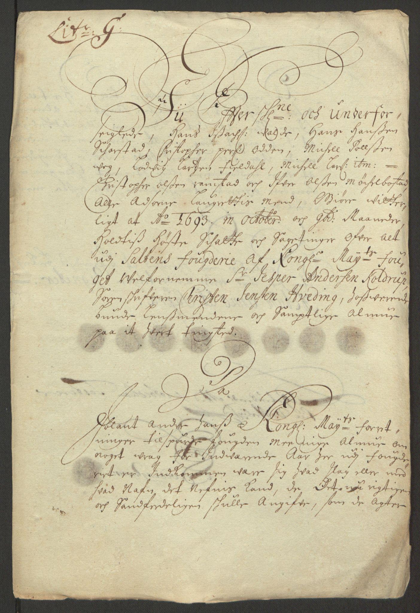 RA, Rentekammeret inntil 1814, Reviderte regnskaper, Fogderegnskap, R66/L4577: Fogderegnskap Salten, 1691-1693, s. 332