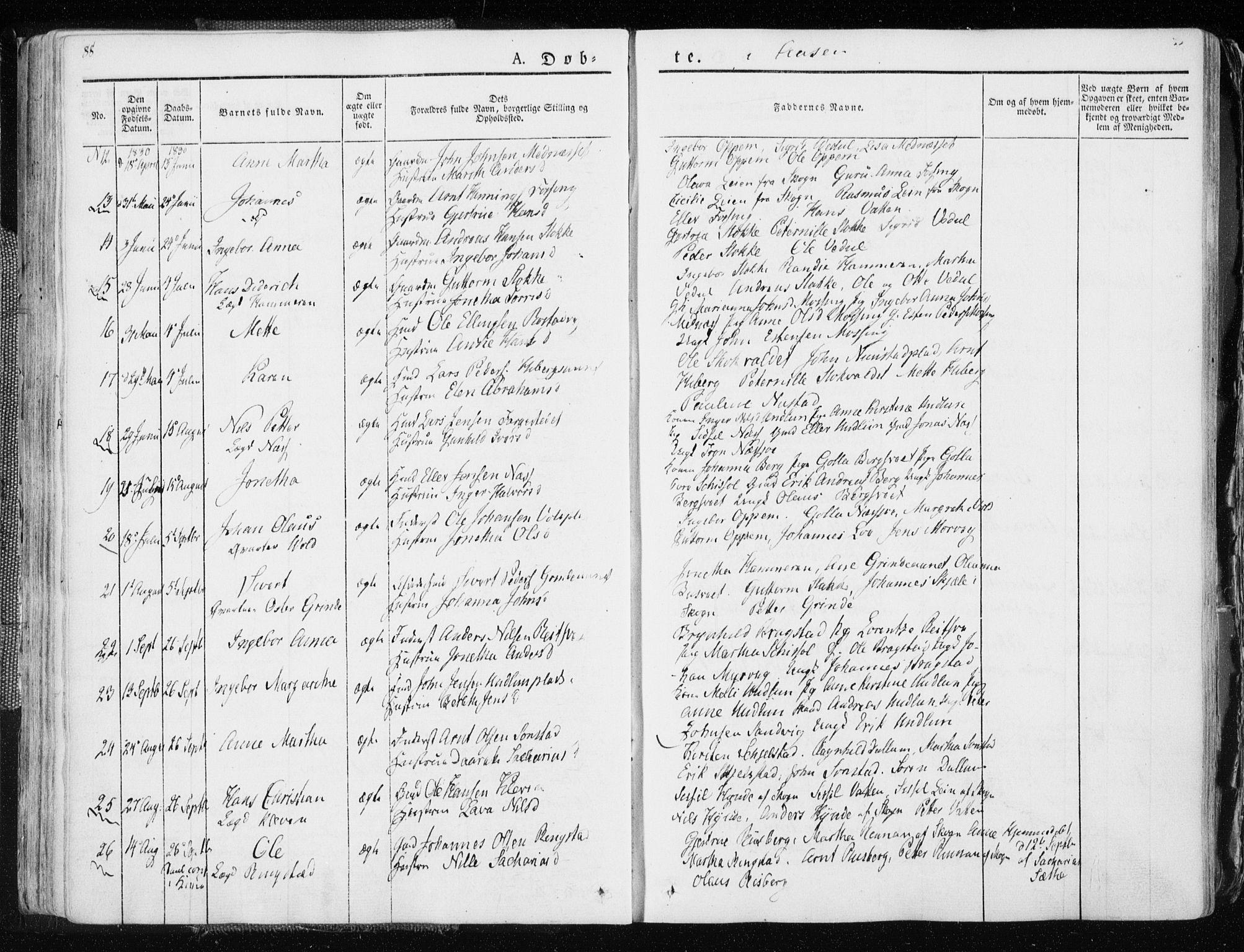SAT, Ministerialprotokoller, klokkerbøker og fødselsregistre - Nord-Trøndelag, 713/L0114: Ministerialbok nr. 713A05, 1827-1839, s. 88