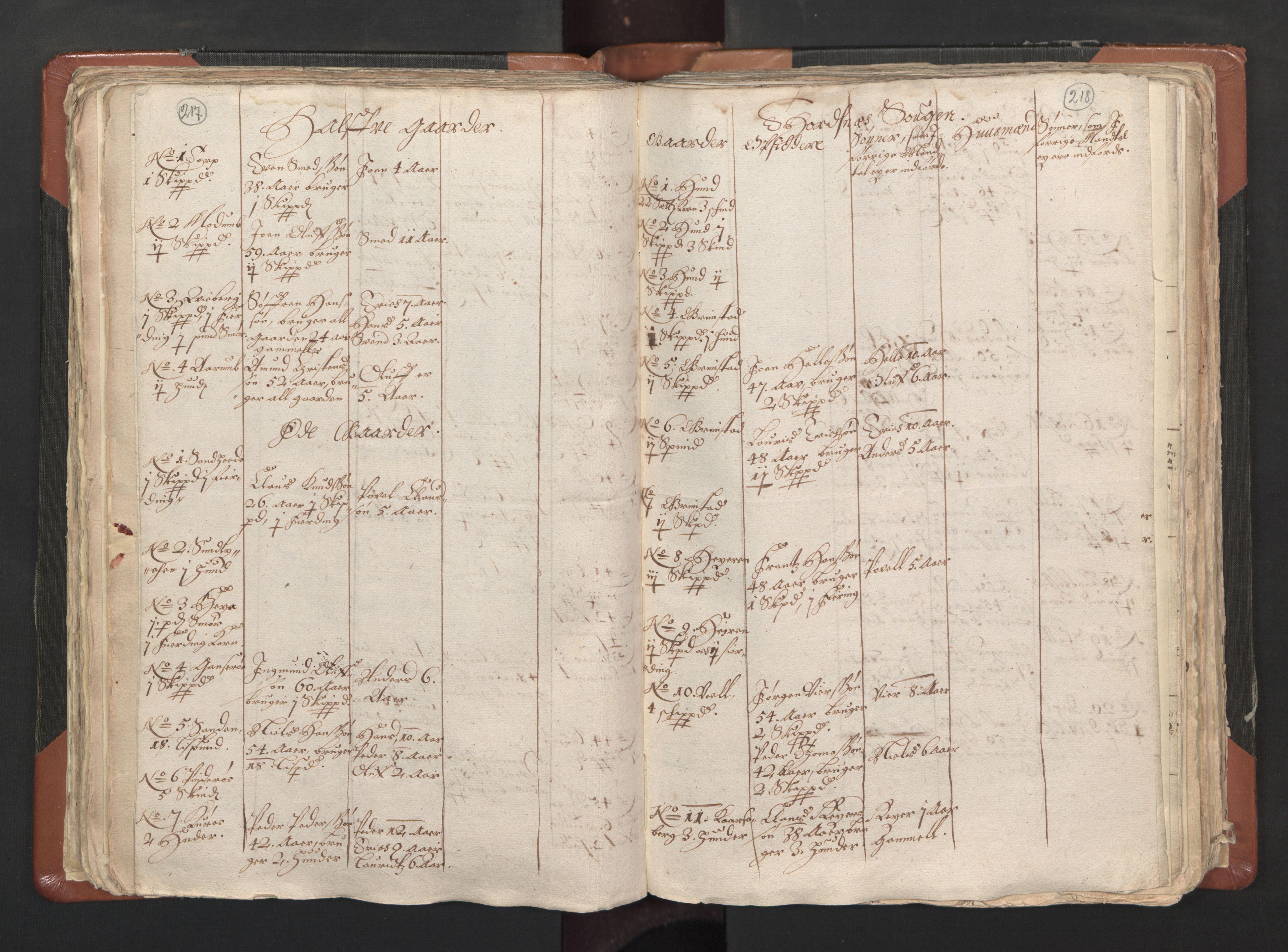 RA, Sogneprestenes manntall 1664-1666, nr. 1: Nedre Borgesyssel prosti, 1664-1666, s. 217-218