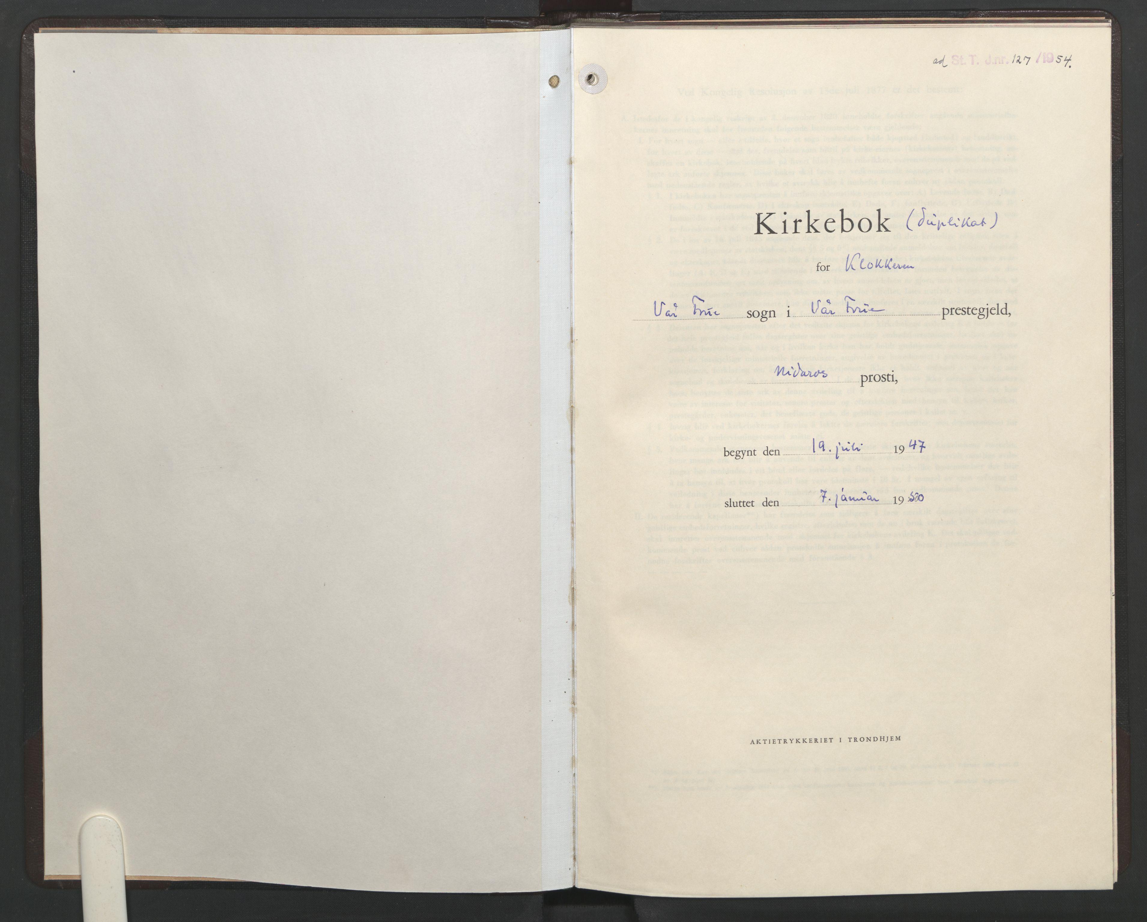 SAT, Ministerialprotokoller, klokkerbøker og fødselsregistre - Sør-Trøndelag, 602/L0155: Klokkerbok nr. 602C23, 1947-1950