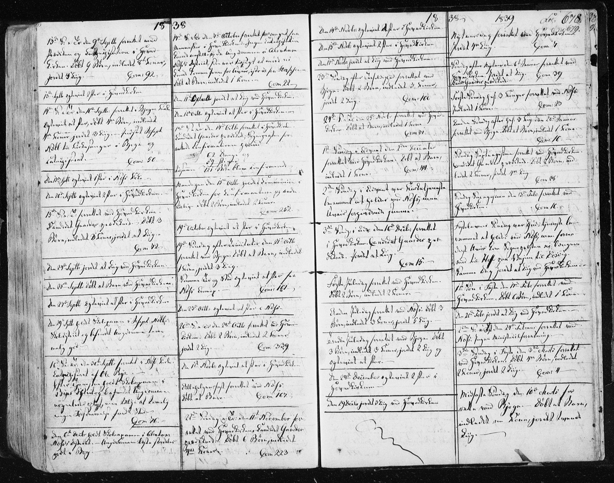 SAT, Ministerialprotokoller, klokkerbøker og fødselsregistre - Sør-Trøndelag, 659/L0735: Ministerialbok nr. 659A05, 1826-1841, s. 678