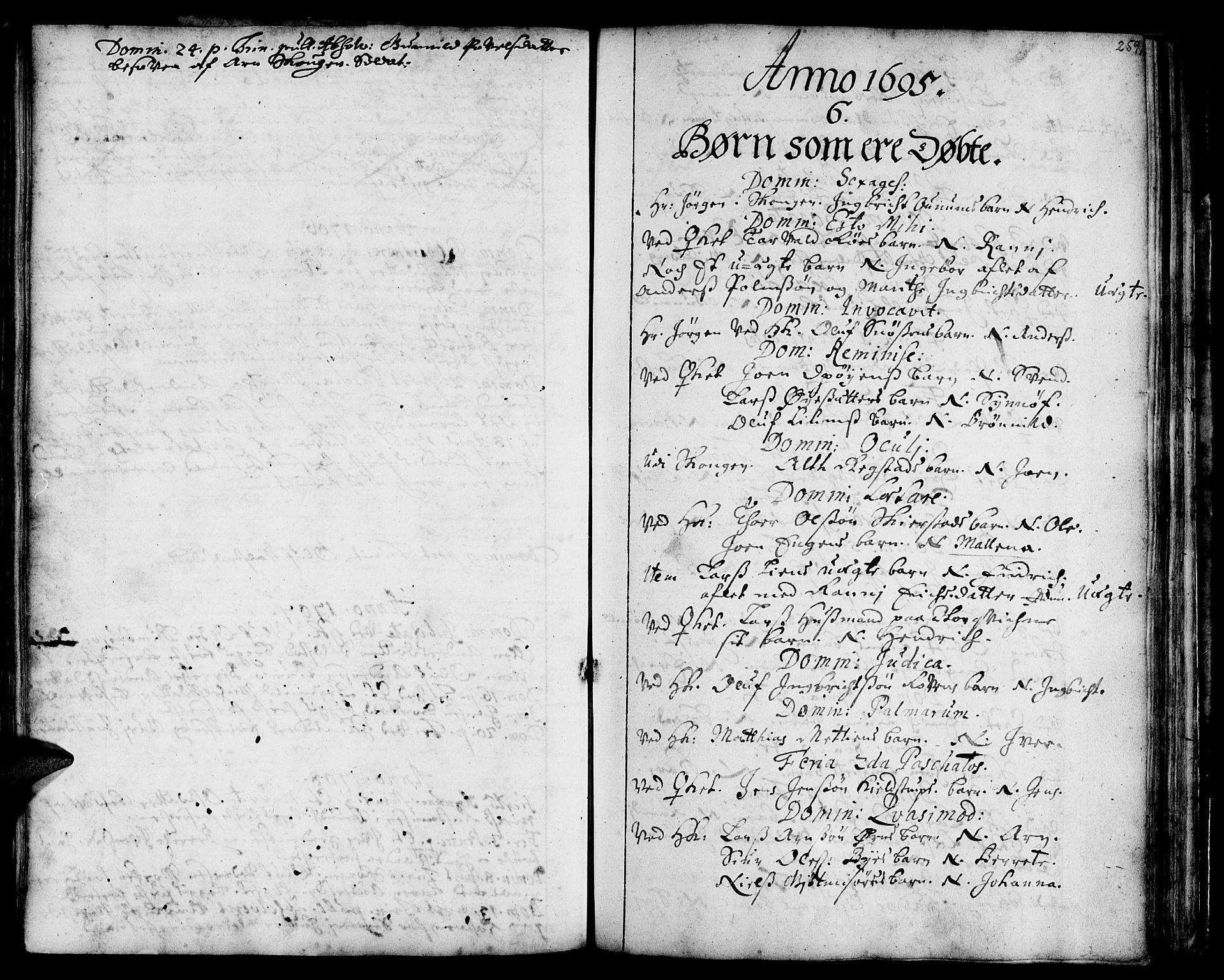 SAT, Ministerialprotokoller, klokkerbøker og fødselsregistre - Sør-Trøndelag, 668/L0801: Ministerialbok nr. 668A01, 1695-1716, s. 230-259
