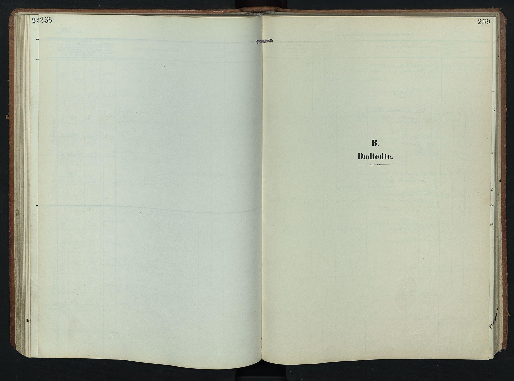 SAH, Rendalen prestekontor, H/Ha/Hab/L0004: Klokkerbok nr. 4, 1904-1946, s. 258-259