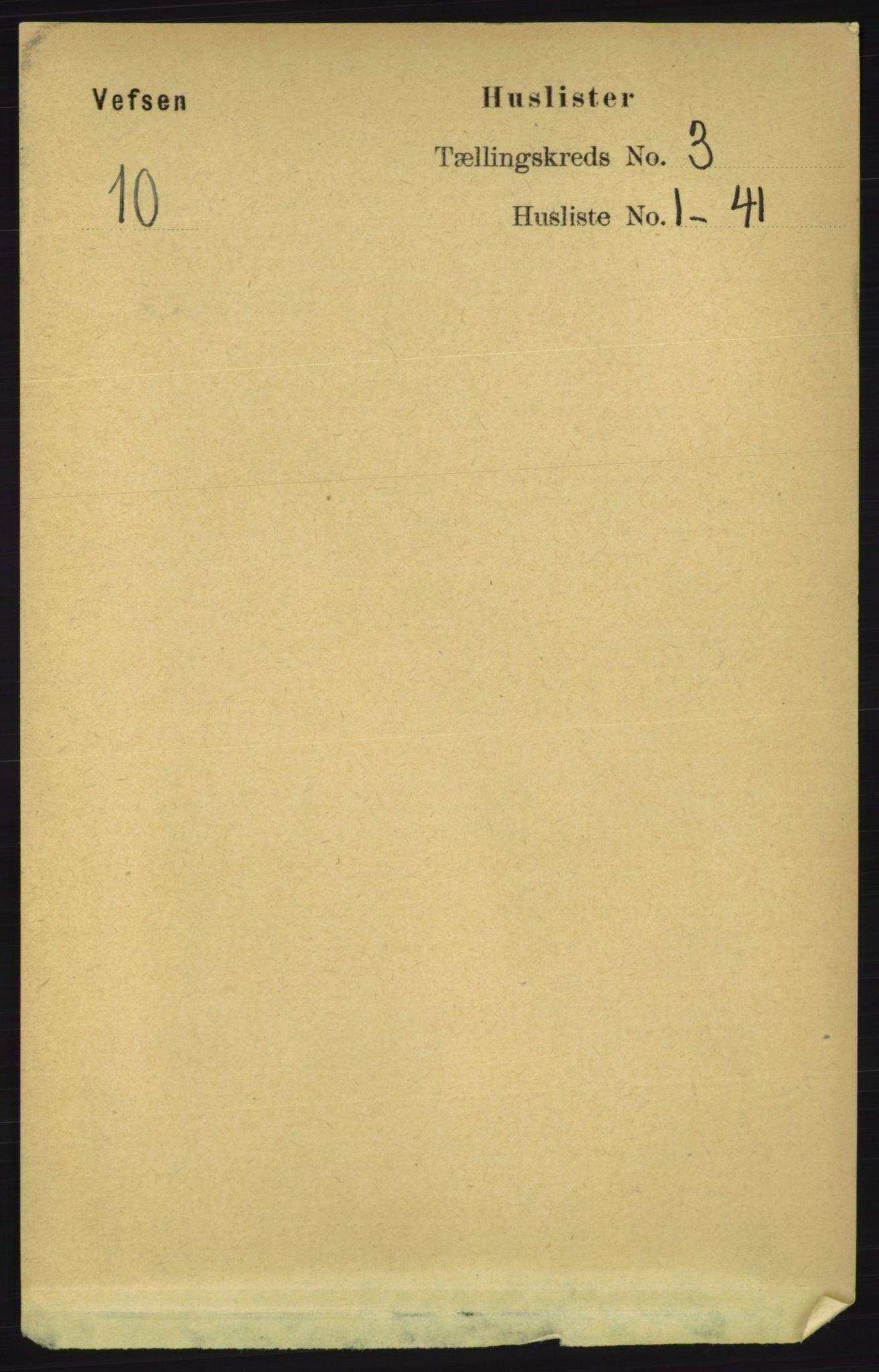 RA, Folketelling 1891 for 1824 Vefsn herred, 1891, s. 1233