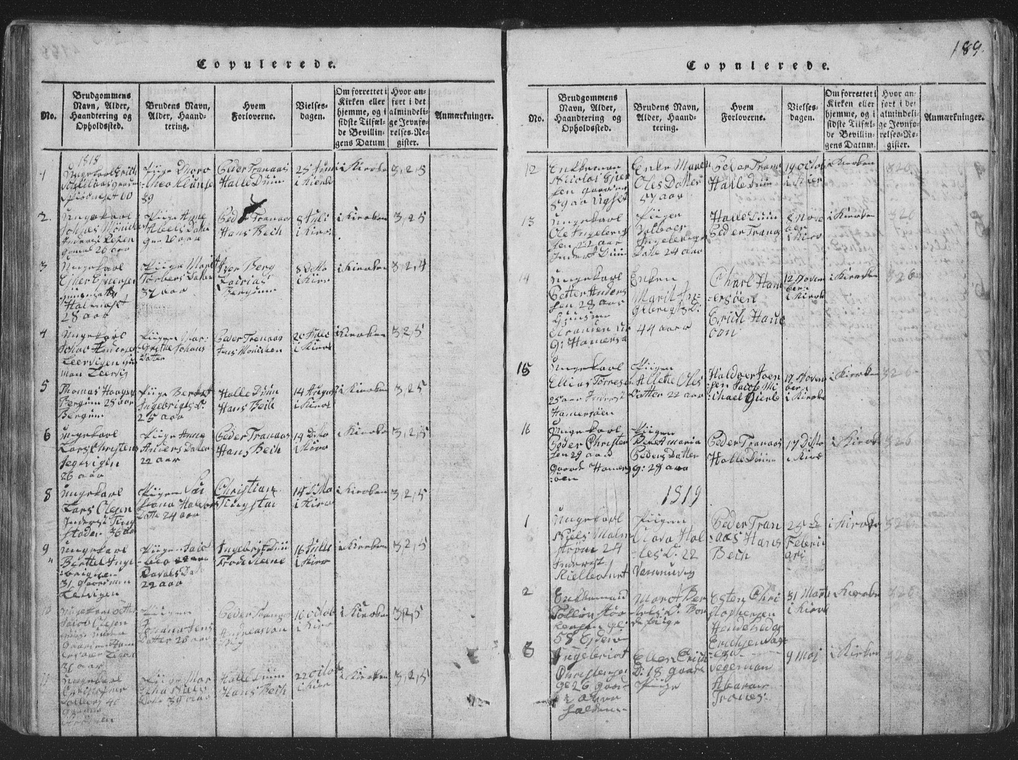 SAT, Ministerialprotokoller, klokkerbøker og fødselsregistre - Nord-Trøndelag, 773/L0613: Ministerialbok nr. 773A04, 1815-1845, s. 189